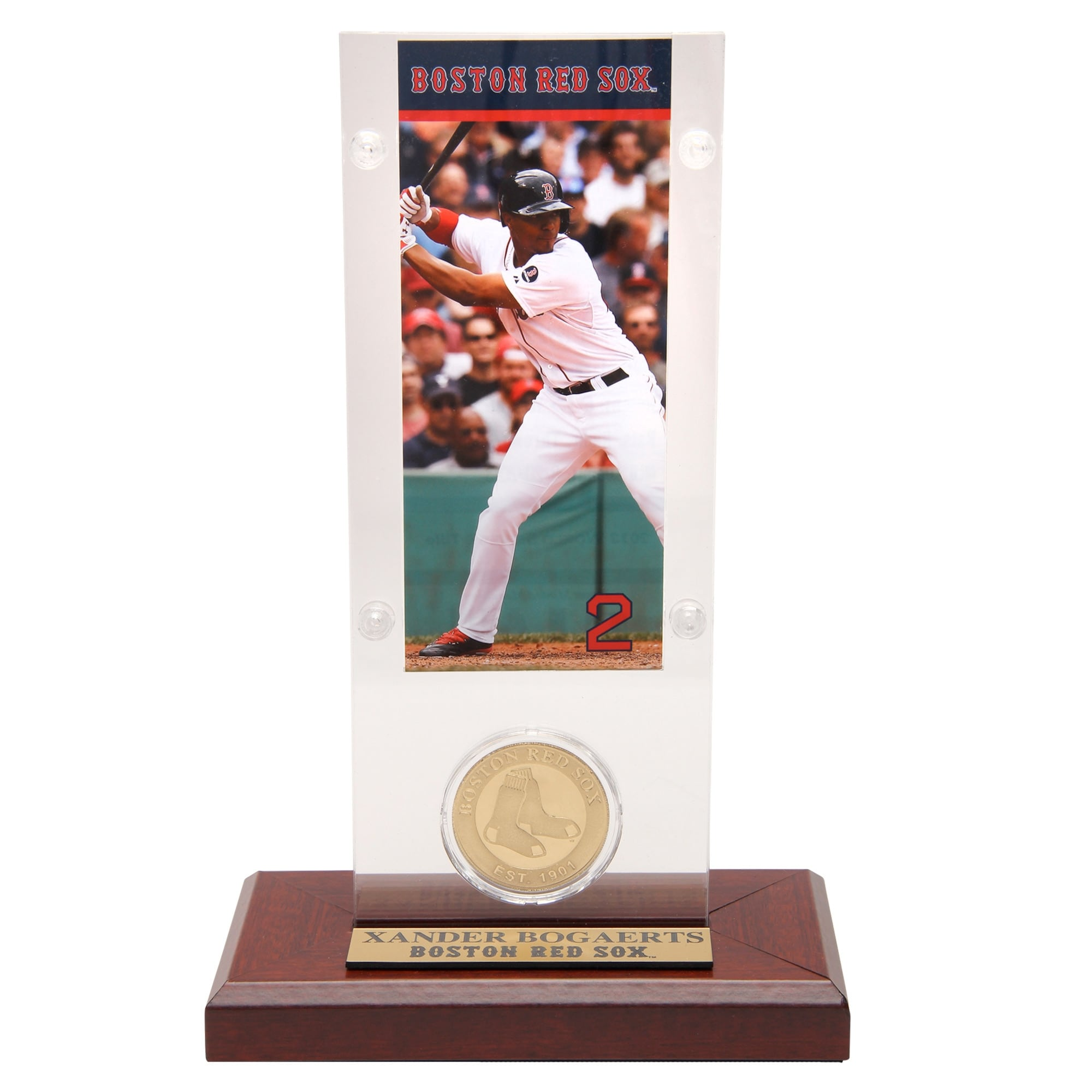 Xander Bogaerts Boston Red Sox Highland Mint Acrylic Player Ticket with Minted Coin