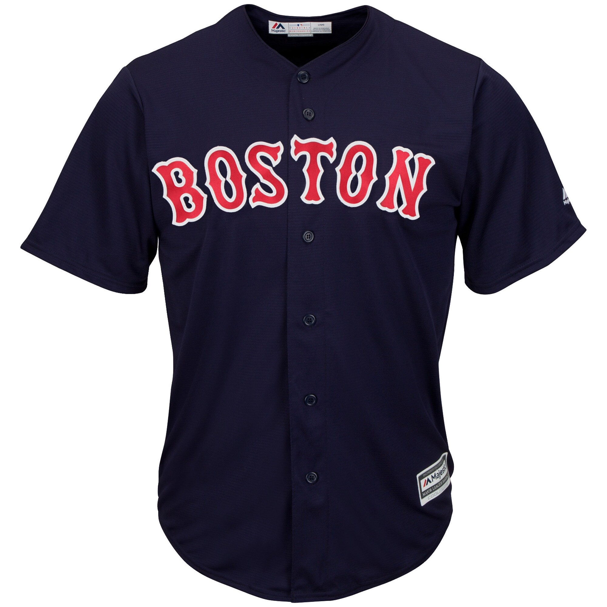 Boston Red Sox Majestic Youth Official Cool Base Jersey - Navy