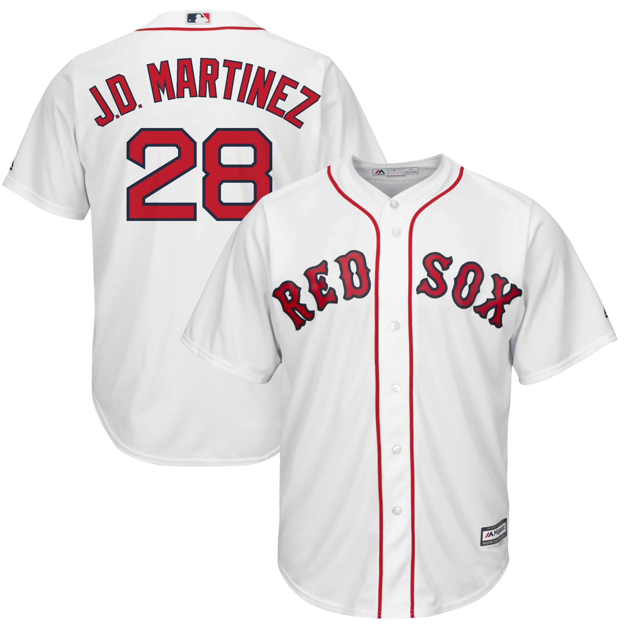 JD Martinez Boston Red Sox Majestic Official Cool Base Player Jersey - White