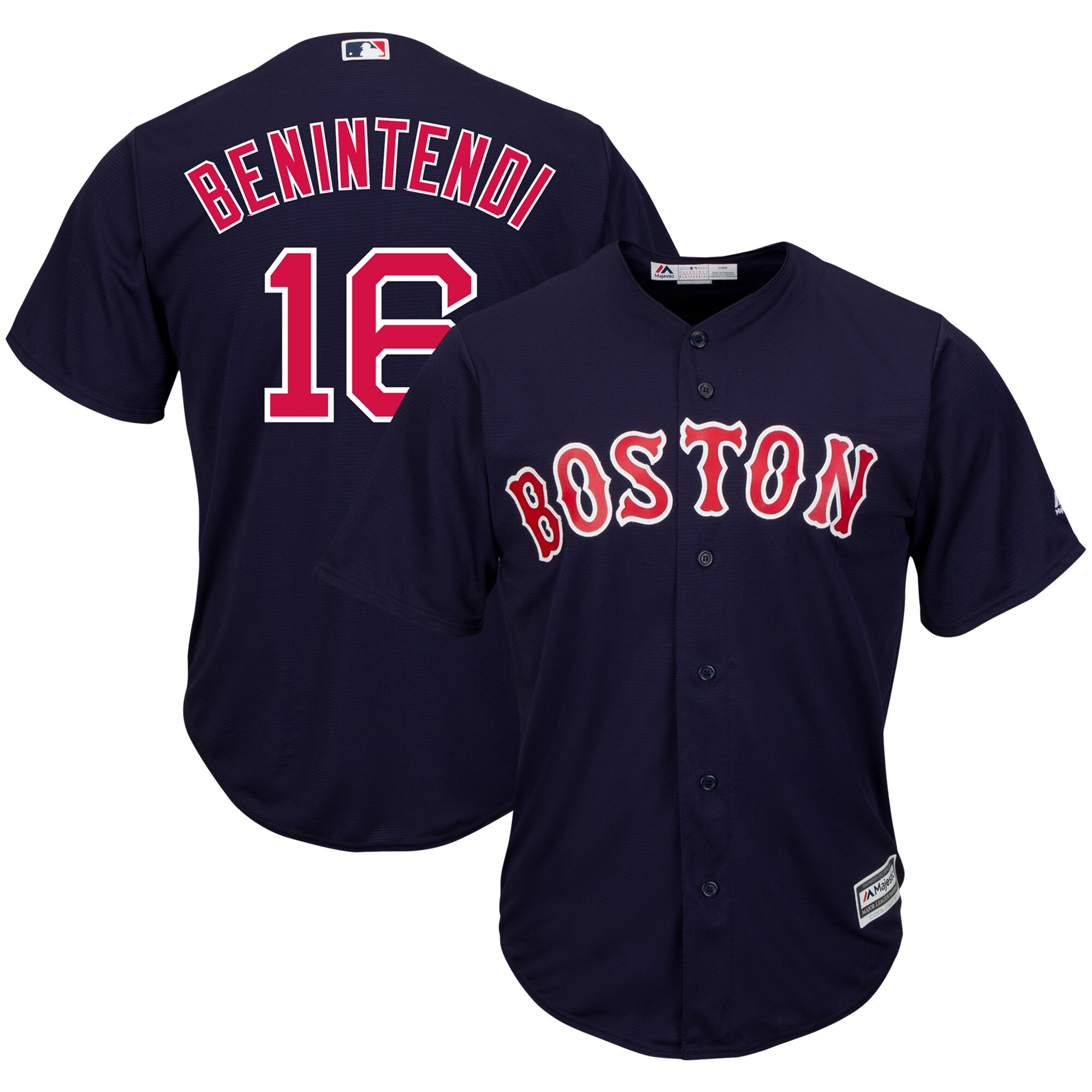 Andrew Benintendi Boston Red Sox Majestic Cool Base Player Replica Jersey - Navy