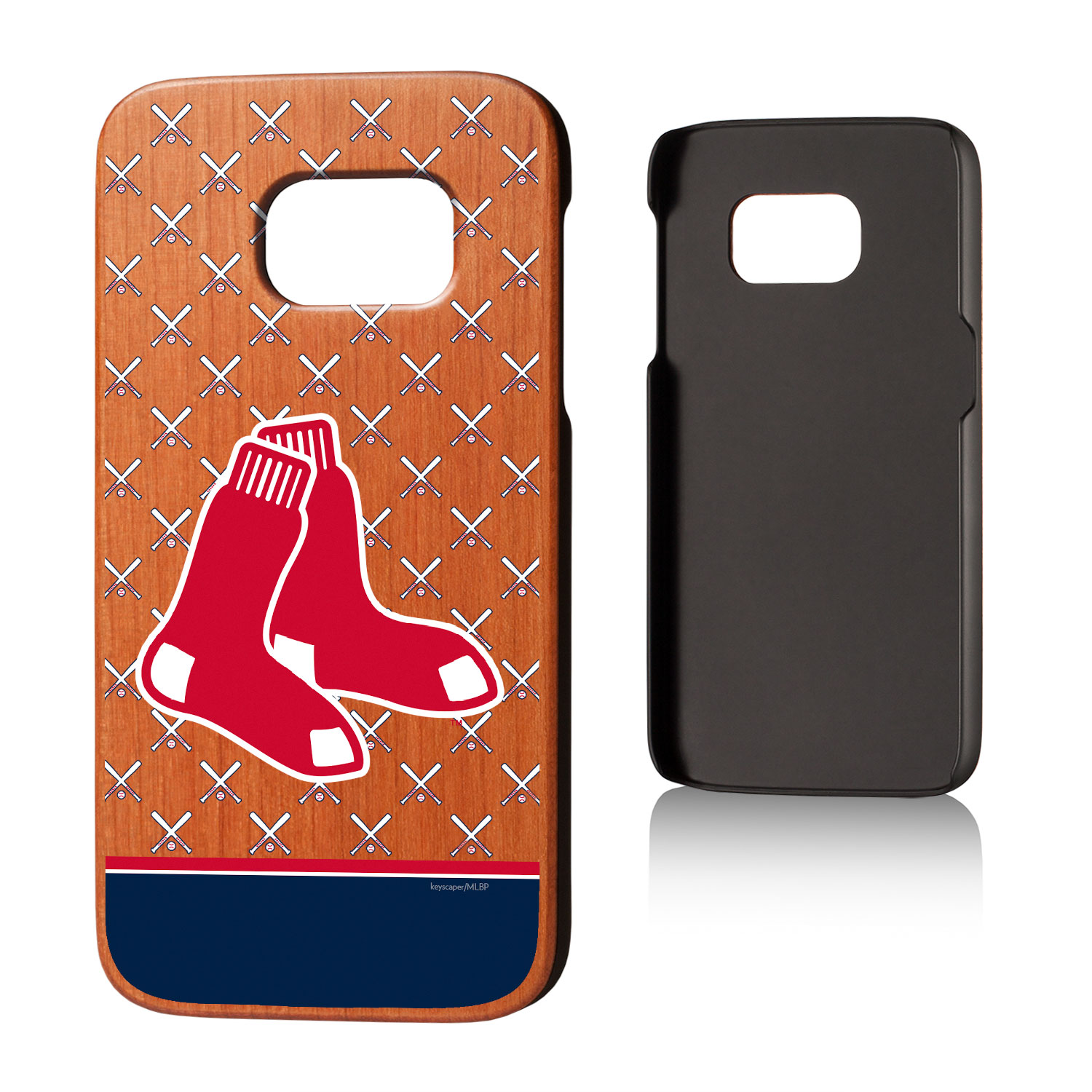 Boston Red Sox Galaxy S7 Stripe Cherry Wood Case