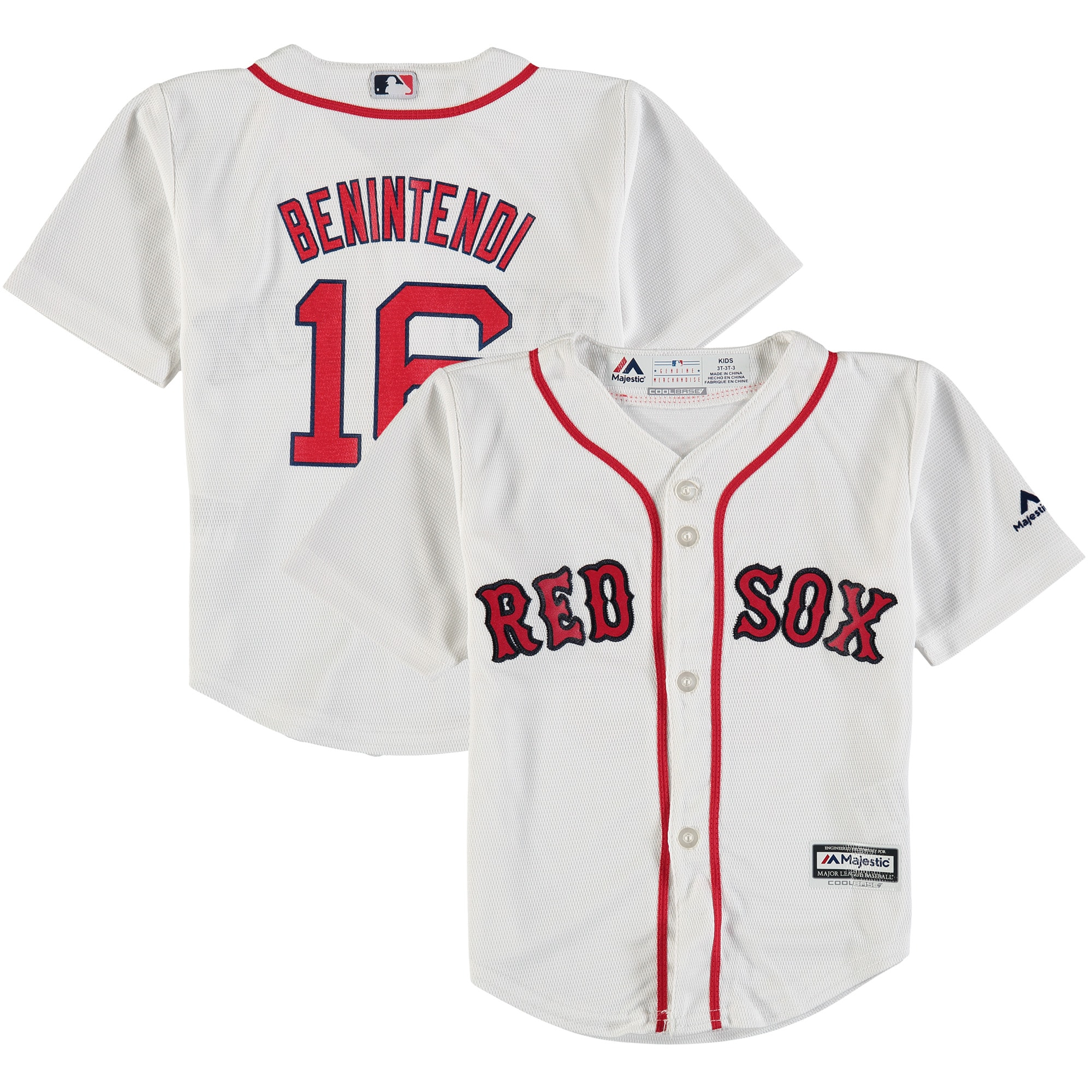 Andrew Benintendi Boston Red Sox Majestic Toddler Home Official Cool Base Player Jersey - White