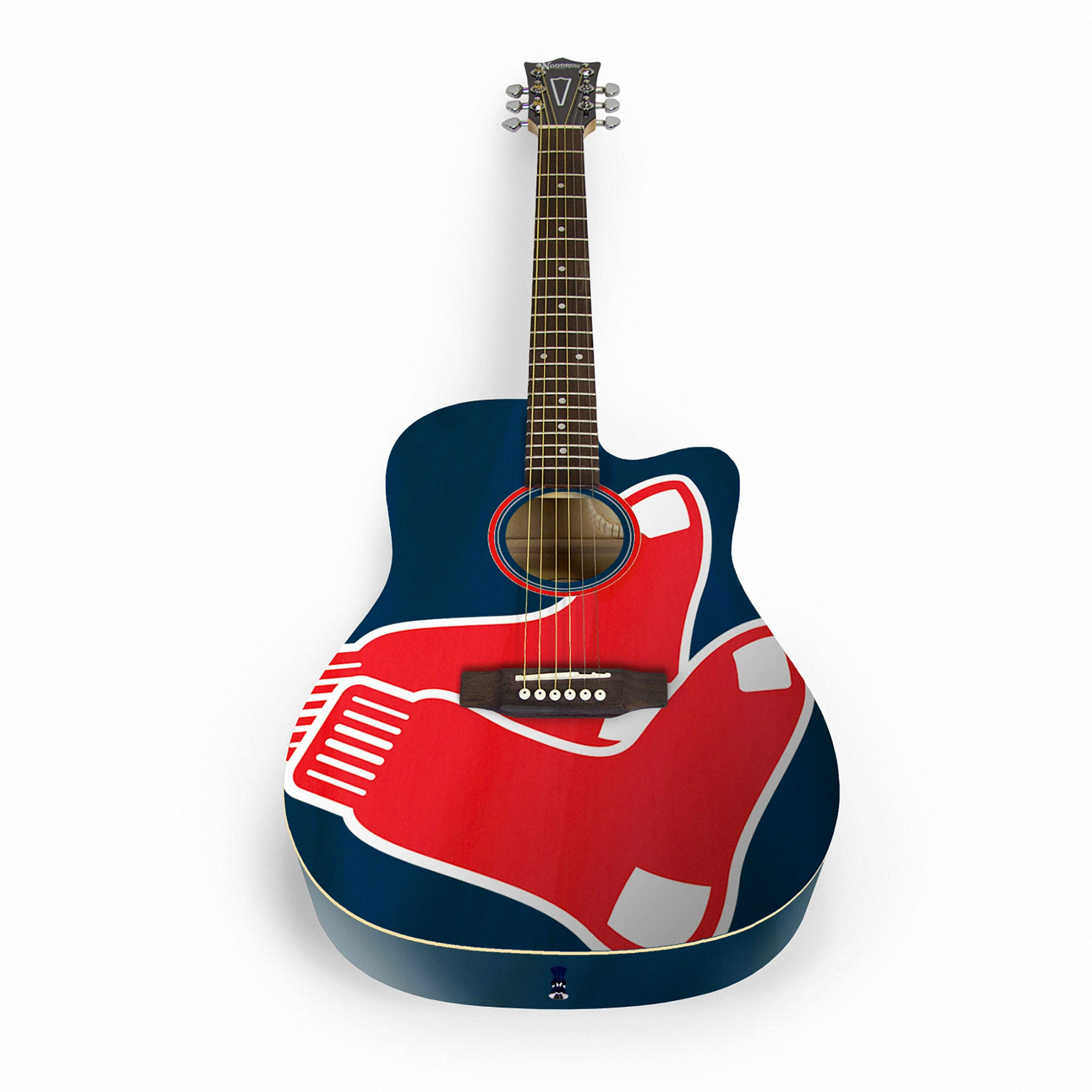 Boston Red Sox Woodrow Acoustic Guitar