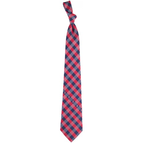 Boston Red Sox Woven Checkered Tie