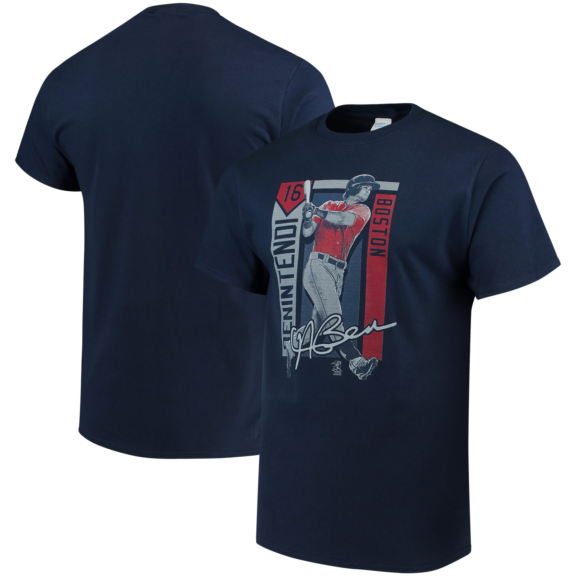 Andrew Benintendi Boston Red Sox Color Block Series Player Graphic T-Shirt - Navy