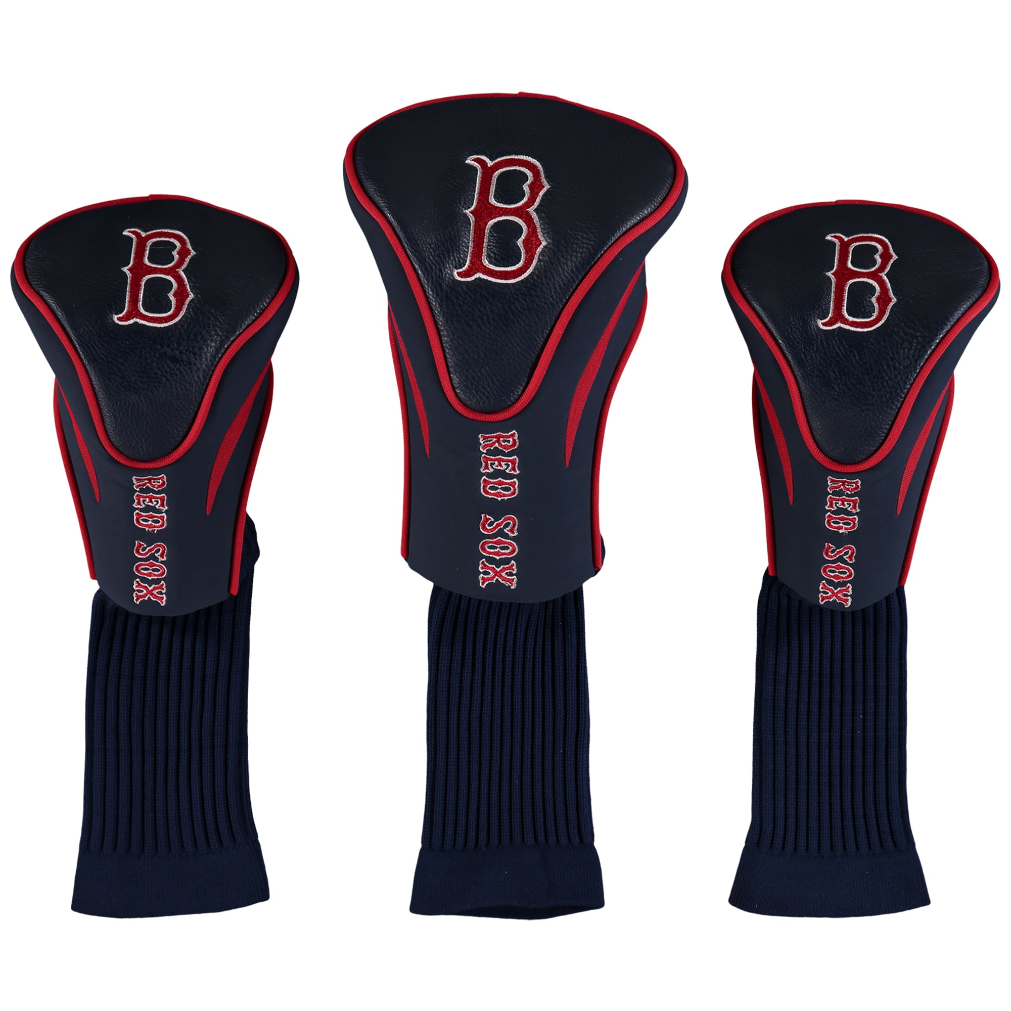 Boston Red Sox 3-Pack Contour Golf Club Head Covers