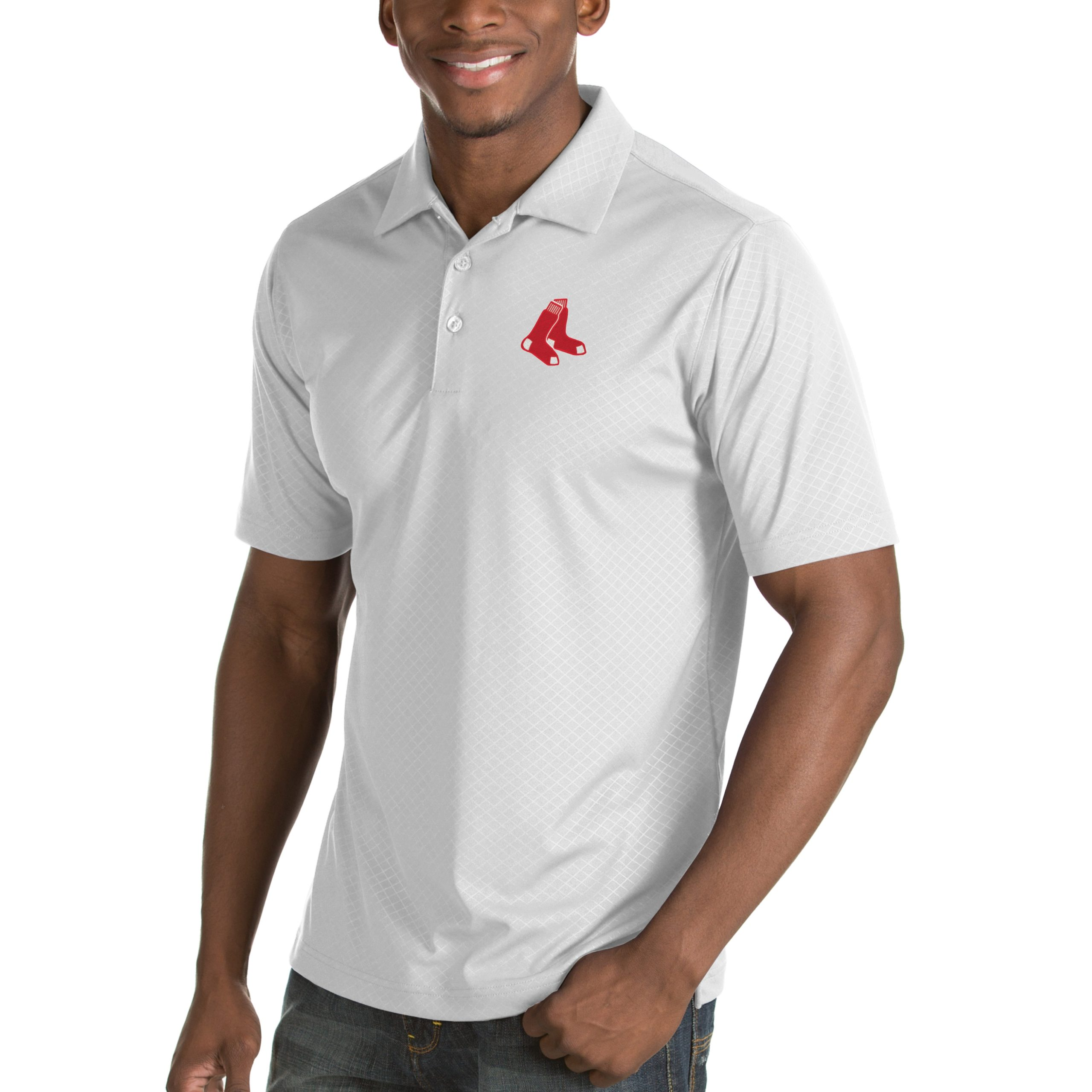 Boston Red Sox Antigua Inspire Desert Dry Polo - White
