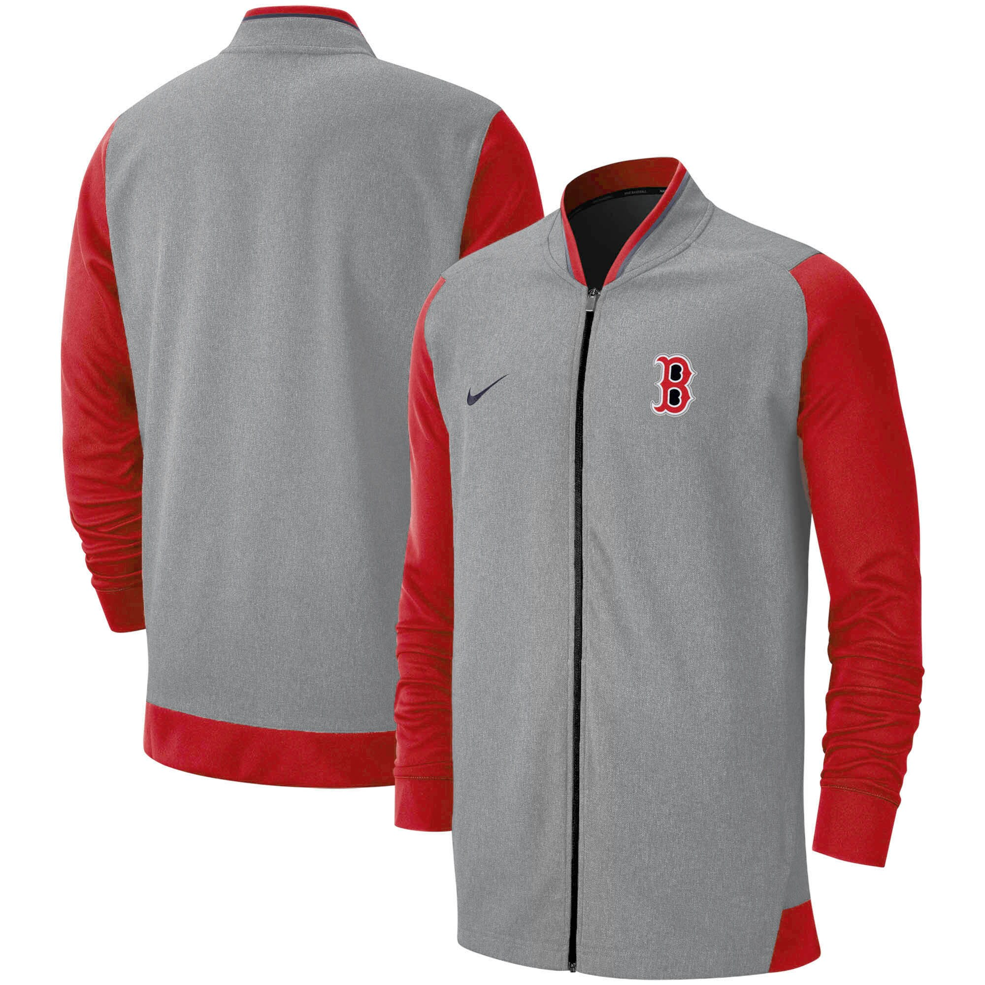 Boston Red Sox Nike Game Performance Full-Zip Jacket - Gray/Red