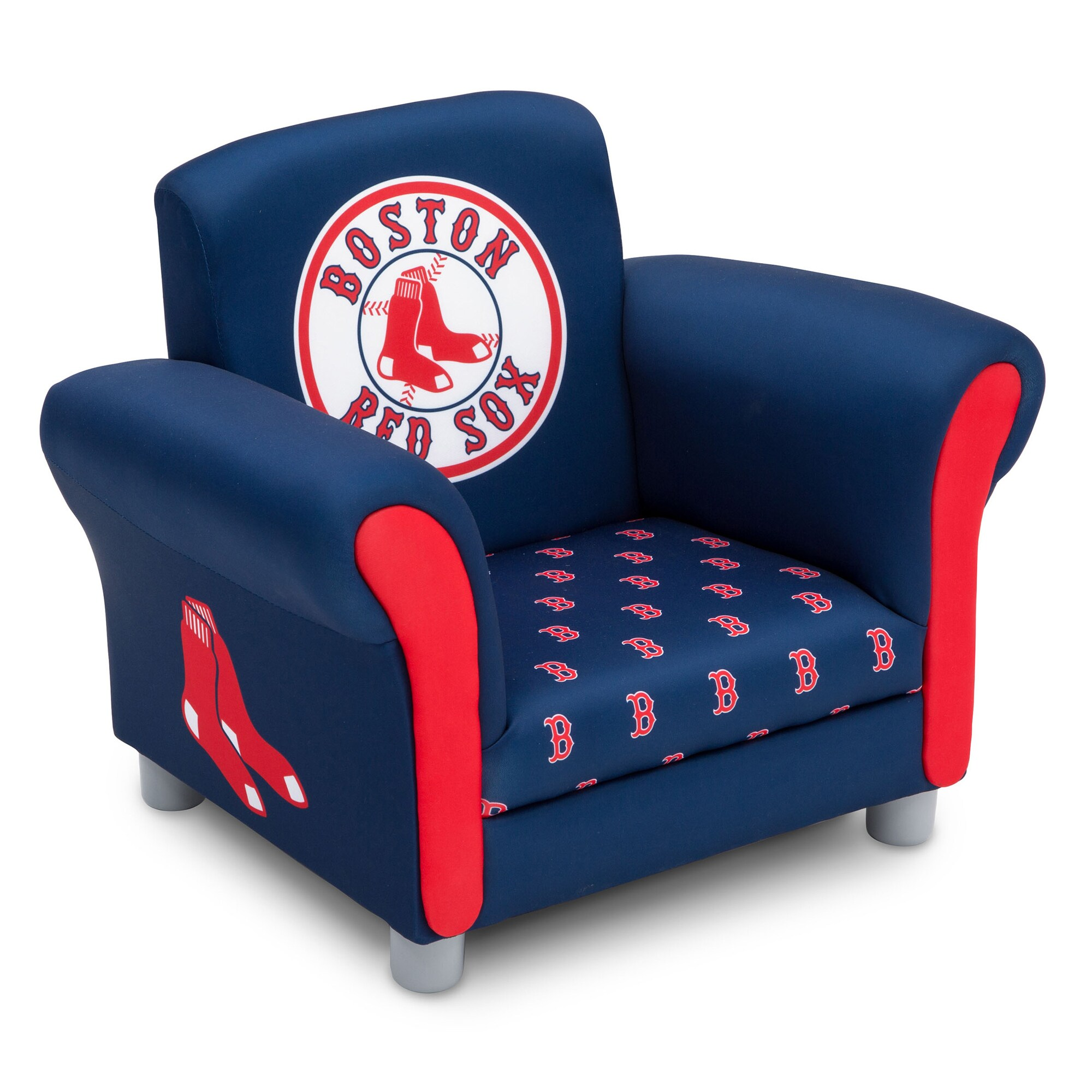 "Boston Red Sox Youth 23.5"" x 17.5"" x 18.5"" Upholstered Chair - Red"
