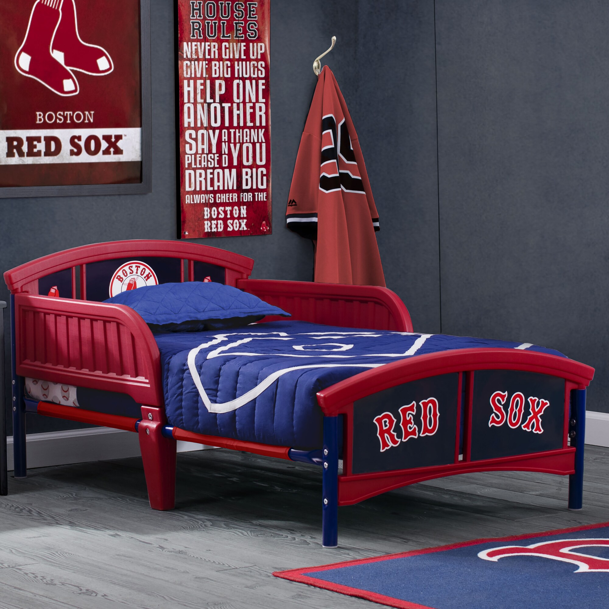 "Boston Red Sox Toddler 54"" x 29"" x 26"" Plastic Bed - Red"
