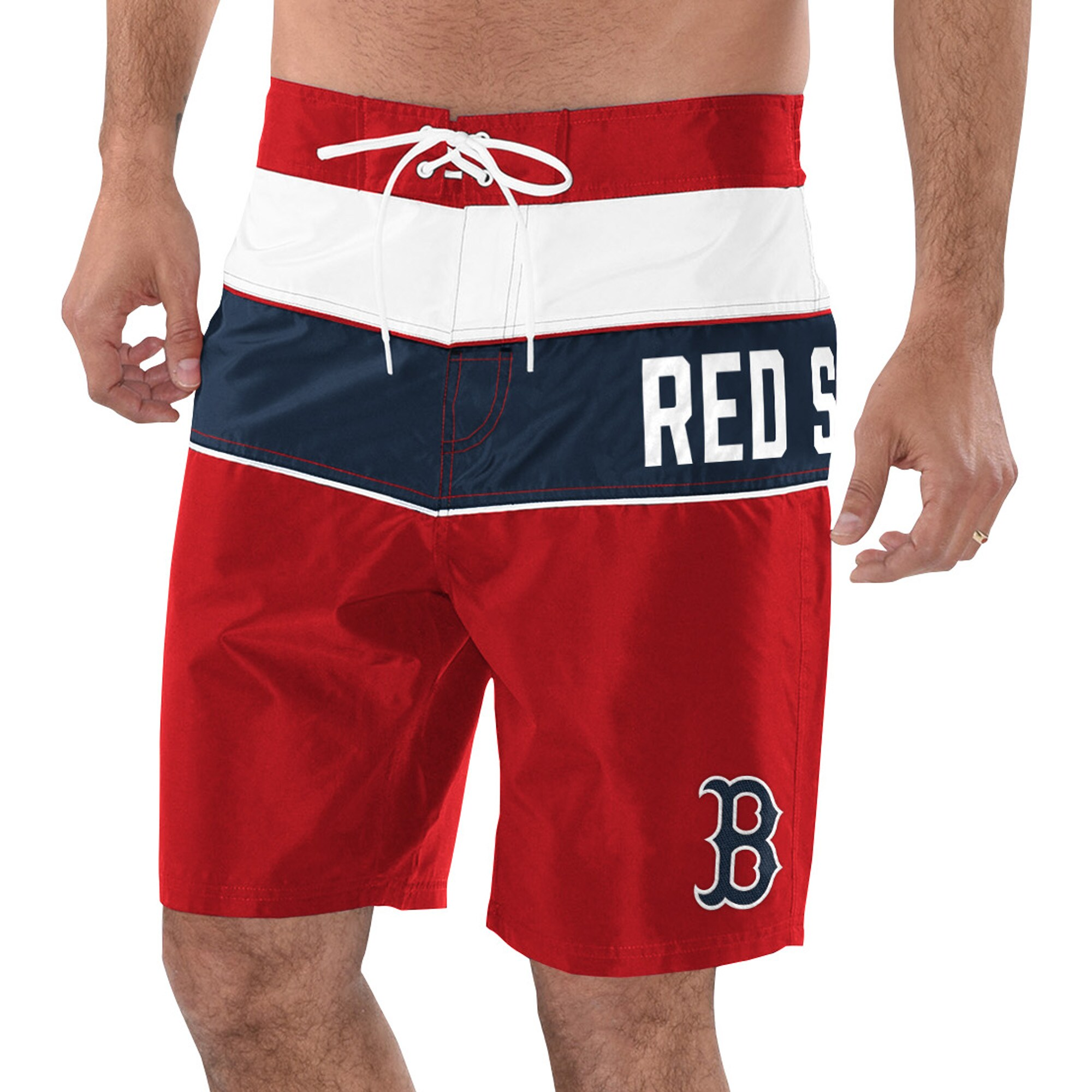 Boston Red Sox G-III Sports by Carl Banks All Star Swim Trunks - Red/Navy