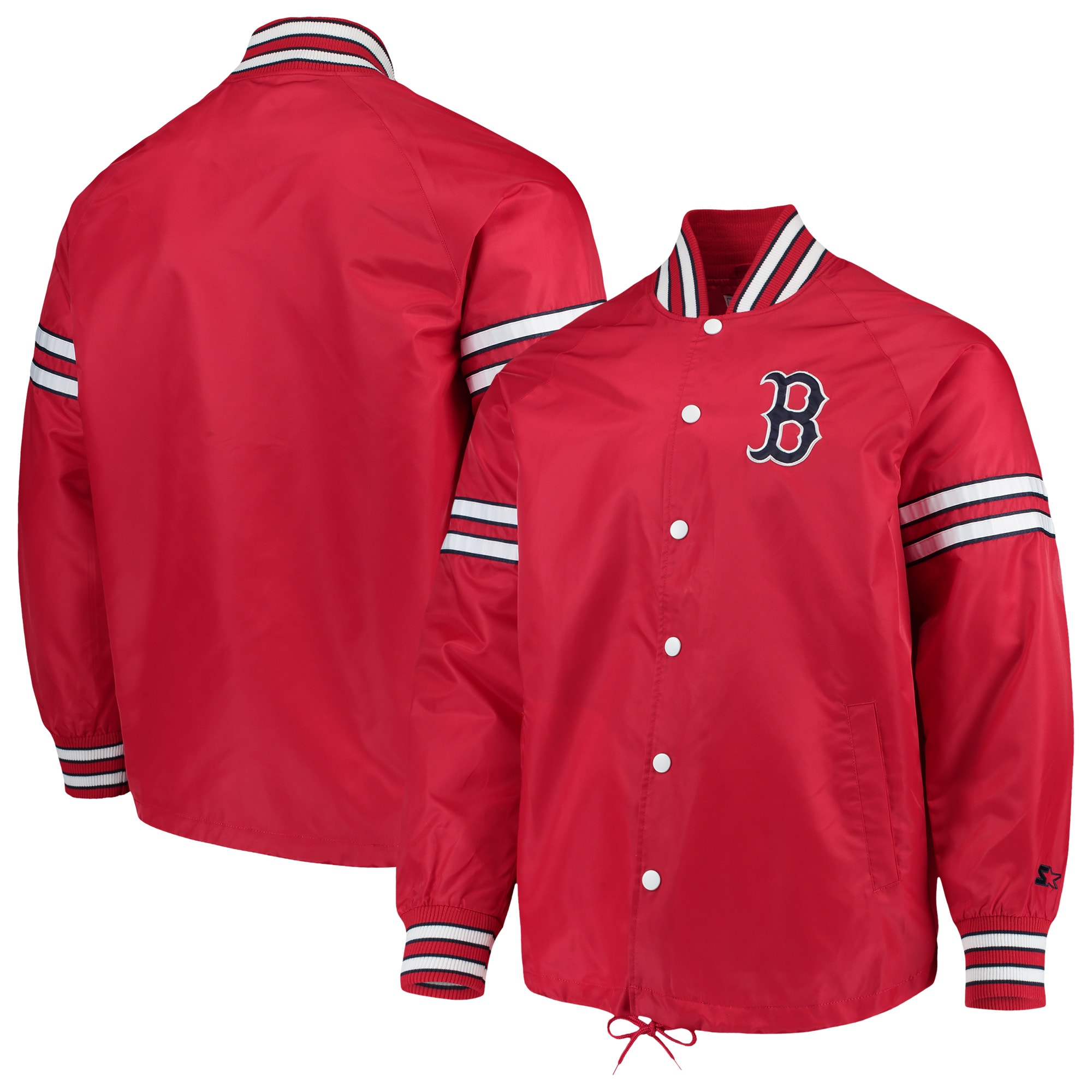 Boston Red Sox G-III Sports by Carl Banks Skipper Coach's Full Snap Jacket - Red