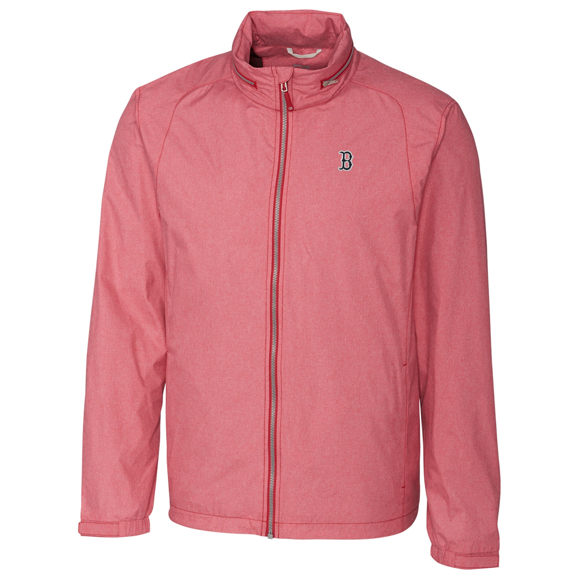 Boston Red Sox Cutter & Buck Panoramic Packable Full-Zip Jacket - Heather Red