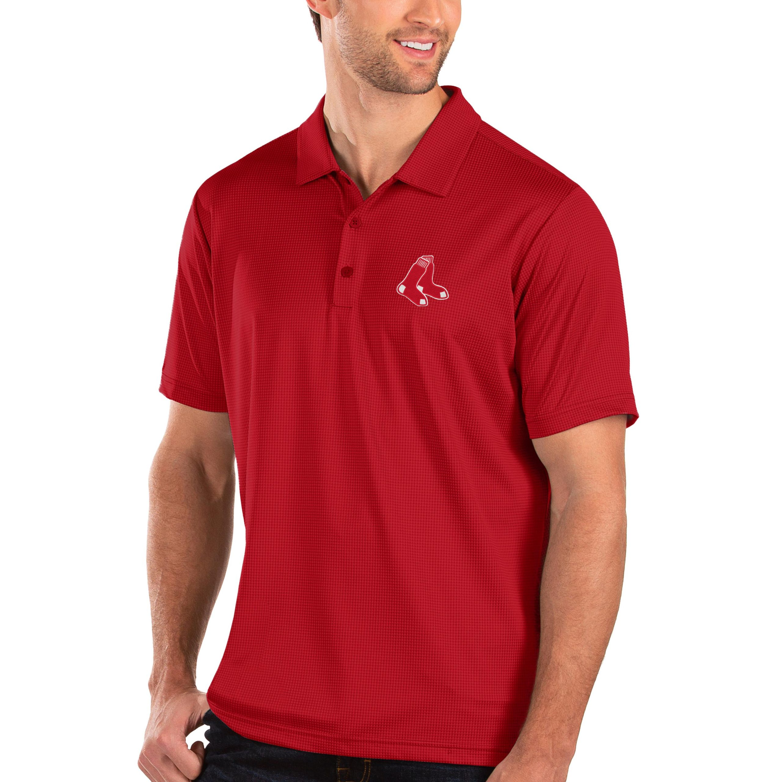 Boston Red Sox Antigua Balance Polo - Red