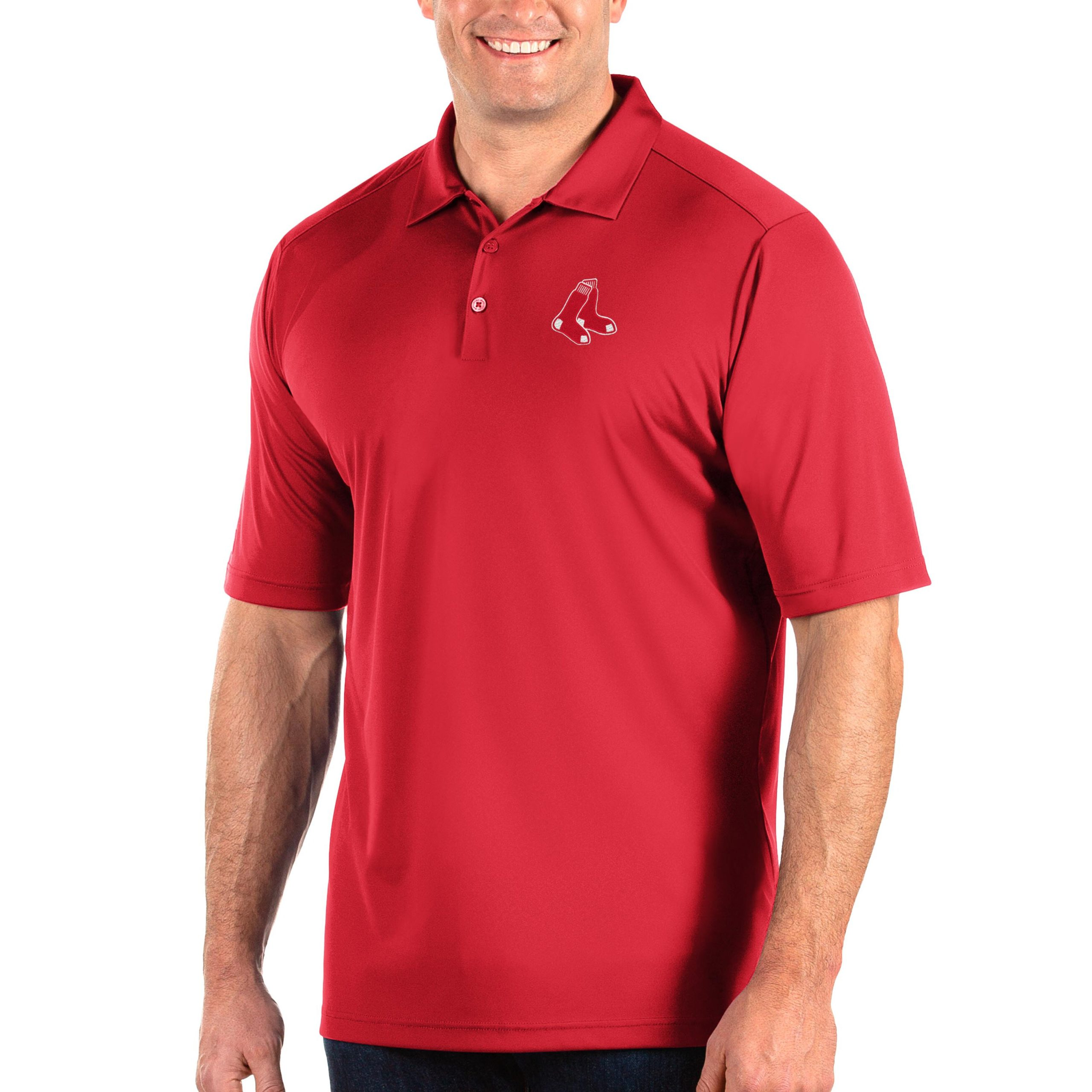 Boston Red Sox Antigua Big & Tall Tribute Polo - Red
