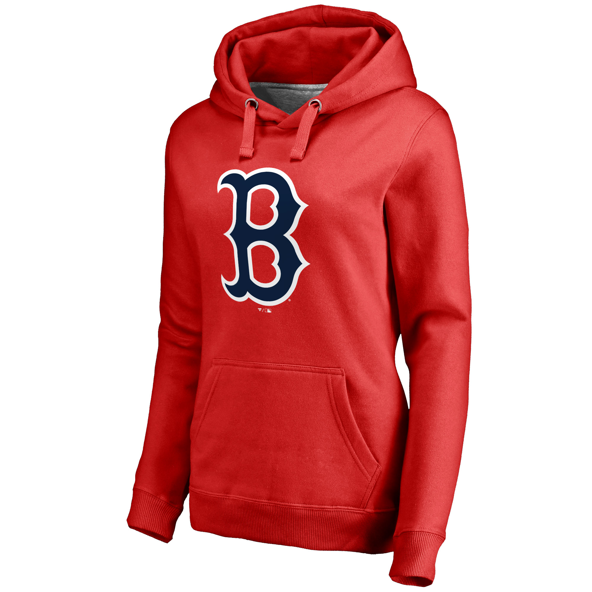 Boston Red Sox Women's Secondary Color Primary Logo Pullover Hoodie - Red