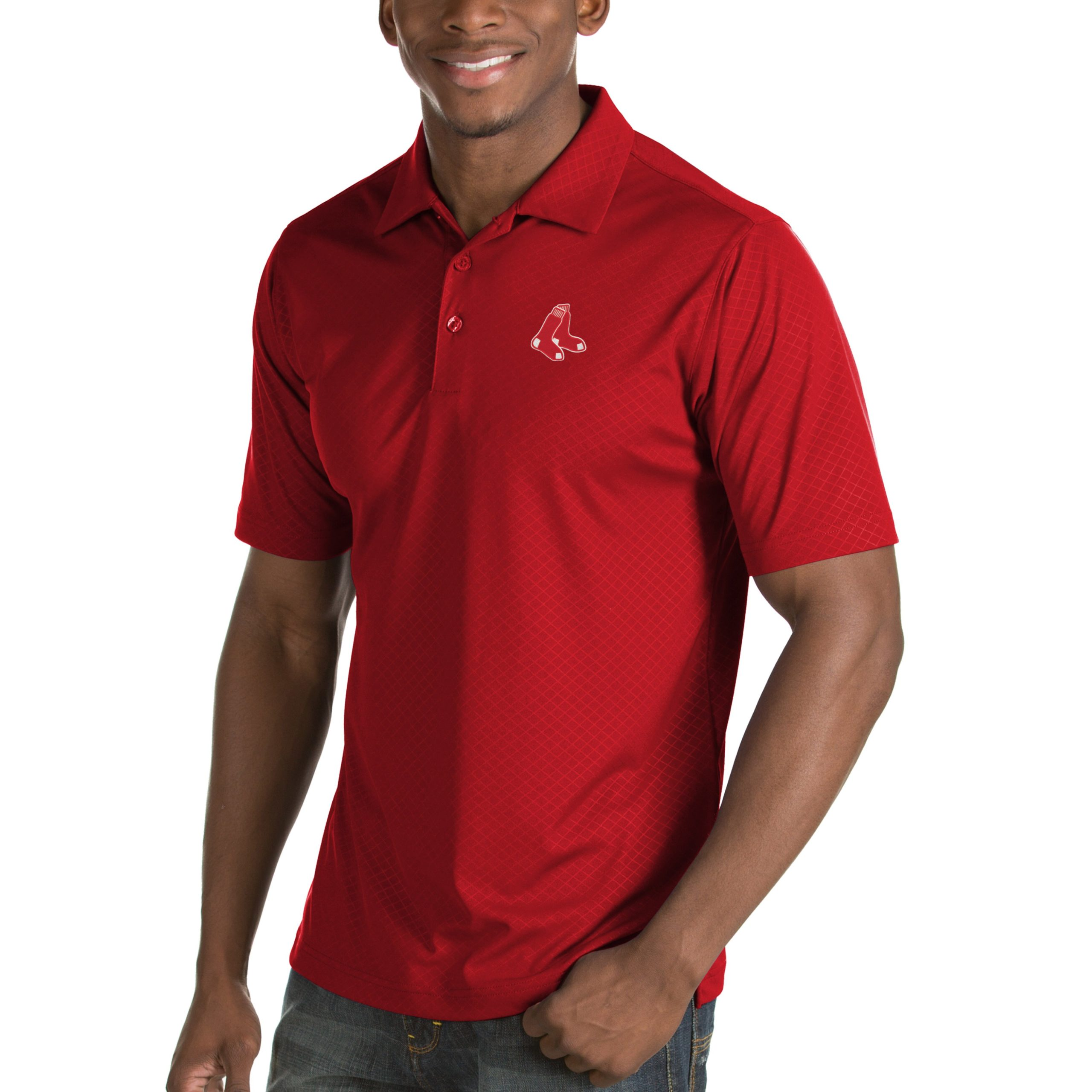 Boston Red Sox Antigua Inspire Desert Dry Polo - Red