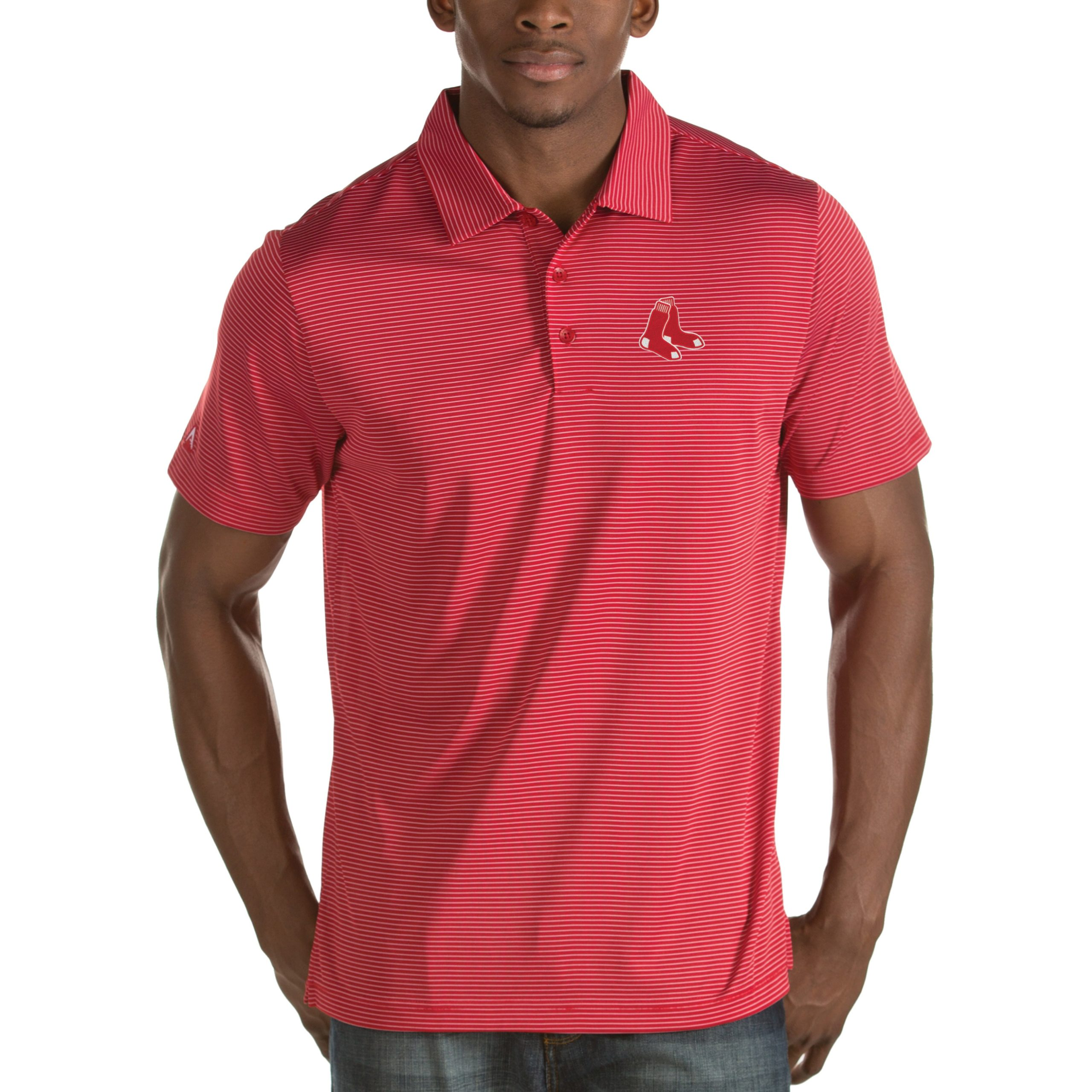 Boston Red Sox Antigua Quest Desert Dry Polo - Red