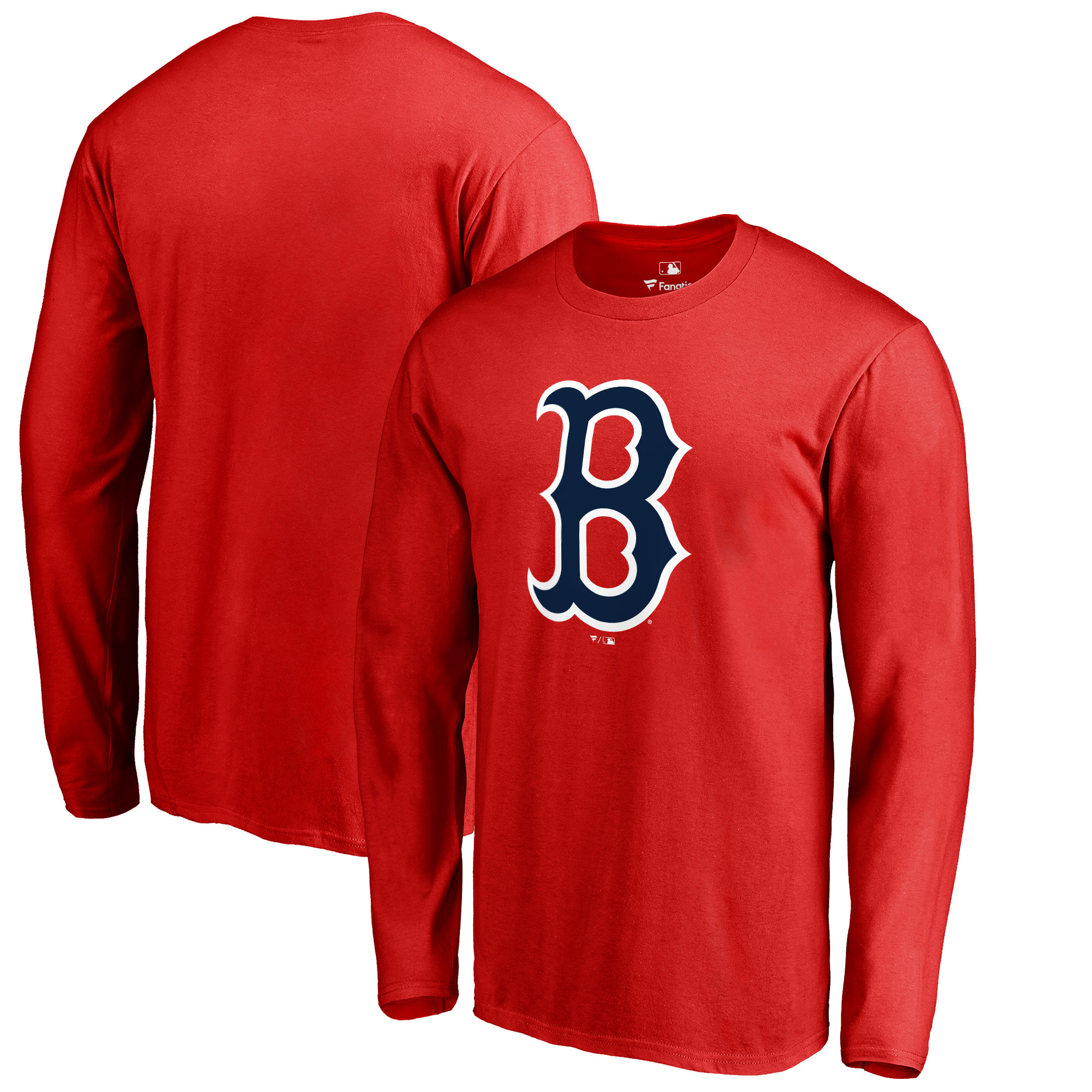 Boston Red Sox Big & Tall Primary Team Logo Long Sleeve T-Shirt - Red
