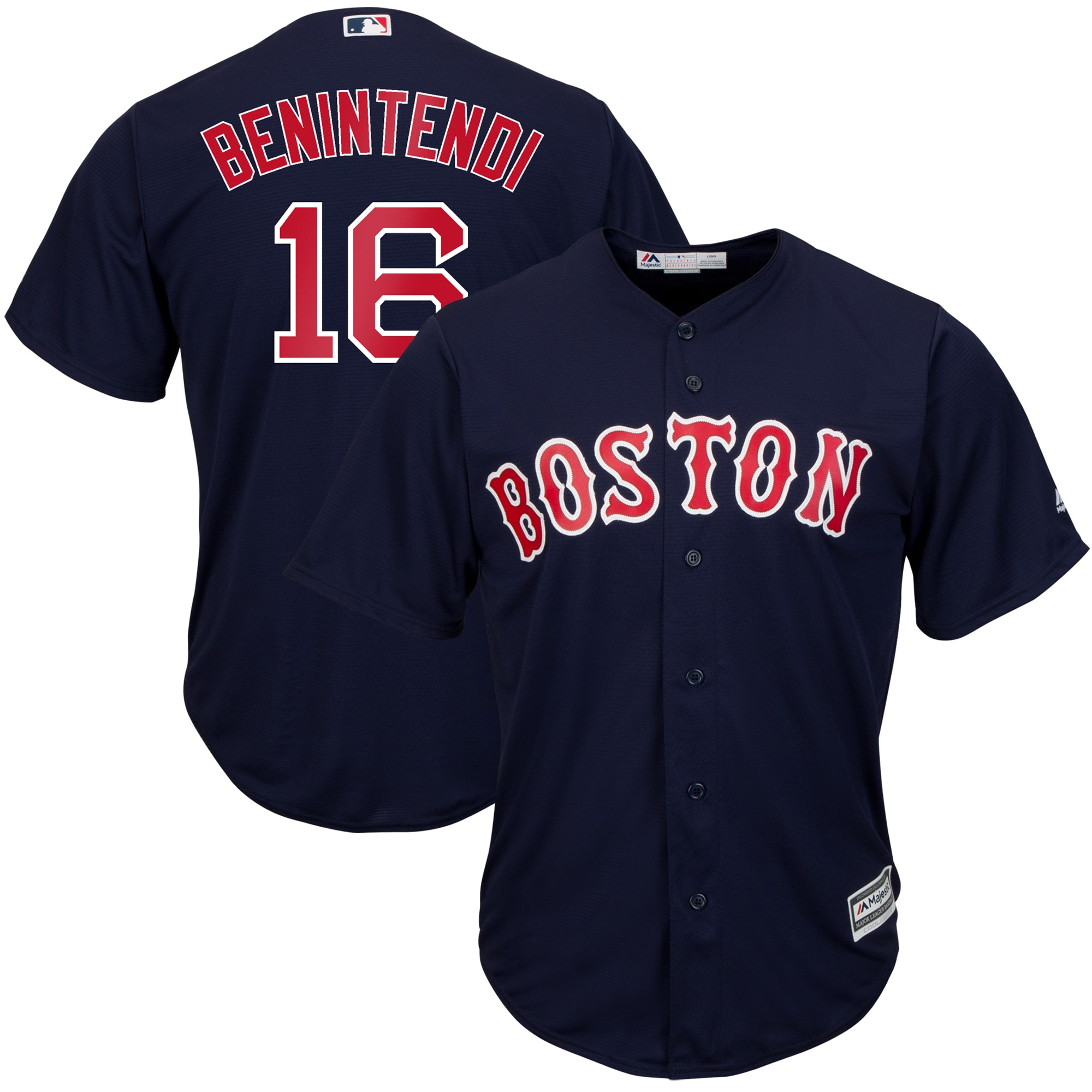 Andrew Benintendi Boston Red Sox Majestic Big & Tall Alternate Cool Base Replica Player Jersey - Navy