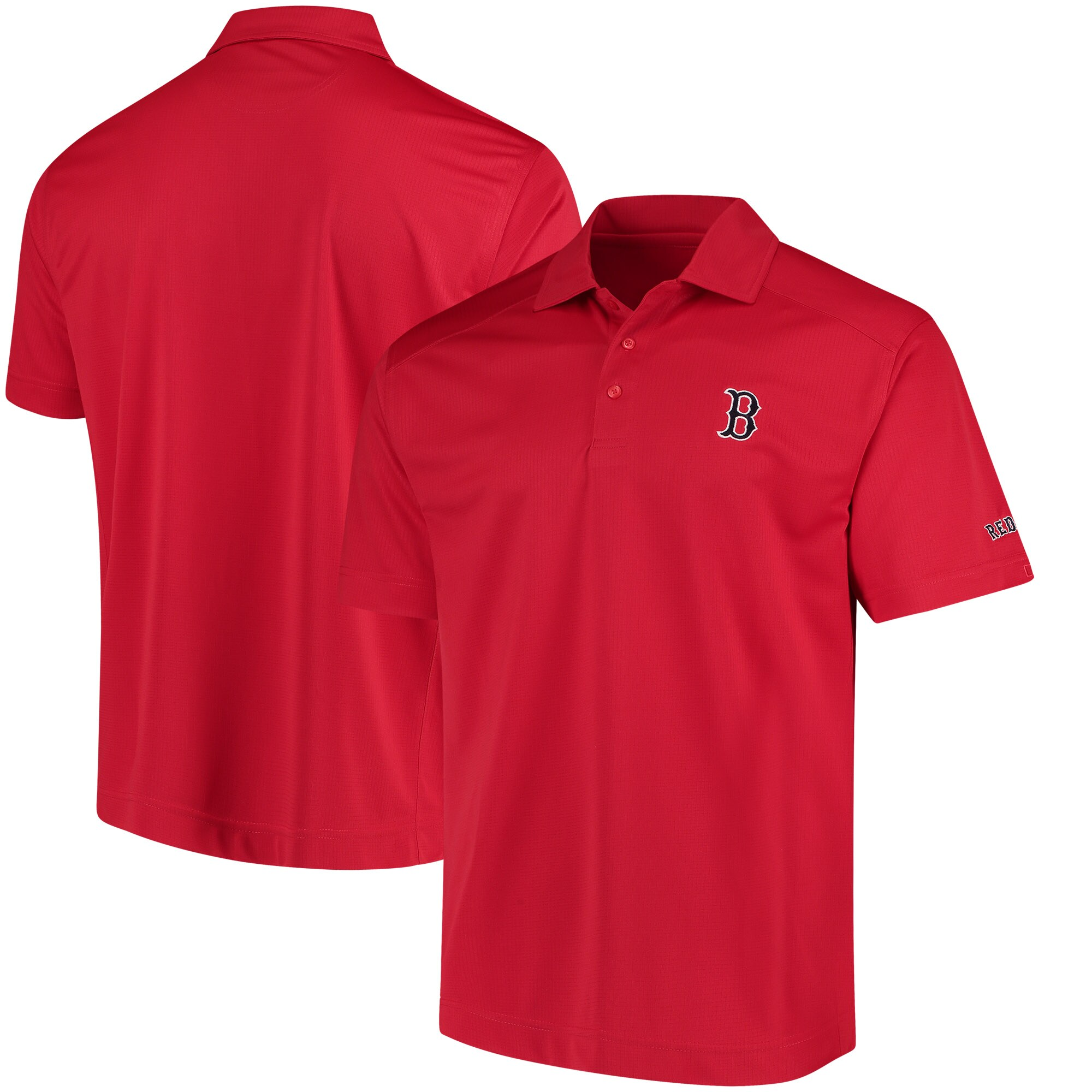 Boston Red Sox Cutter & Buck Genre Polo with Sleeve Logo - Red