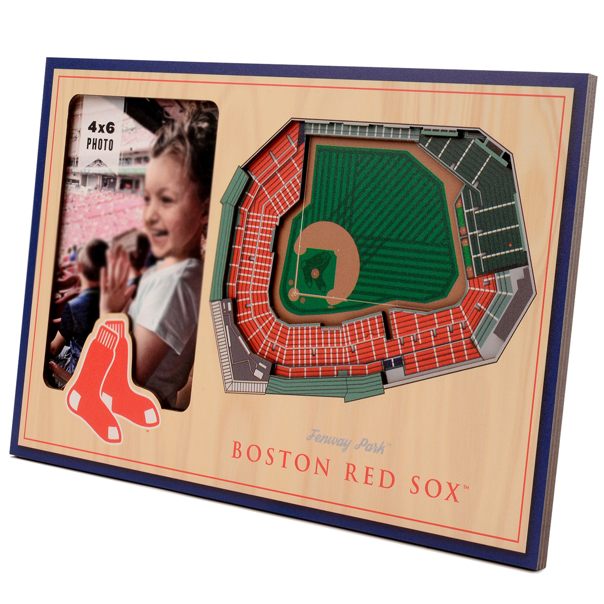 Boston Red Sox 3D StadiumViews Picture Frame - Brown