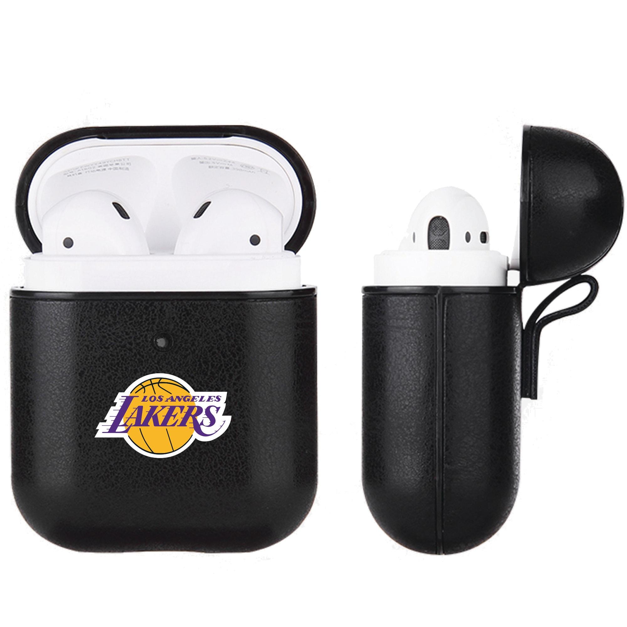 Los Angeles Lakers Air Pods Black Leatherette Case