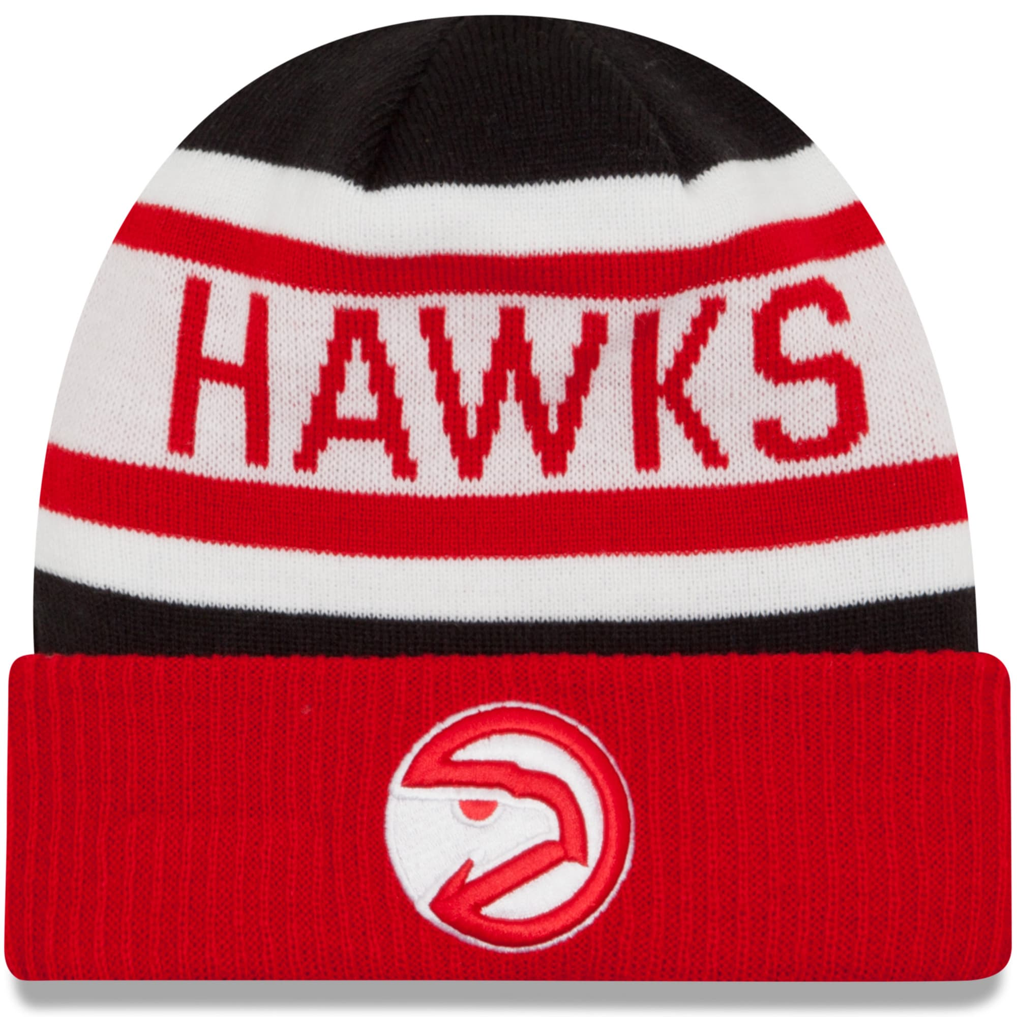 Atlanta Hawks New Era Youth Biggest Fan 2.0 Cuffed Knit Hat - Red