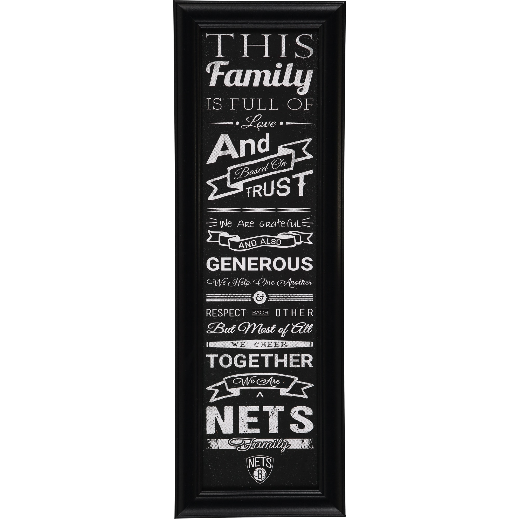 Brooklyn Nets Crackle Family Cheer Framed Art