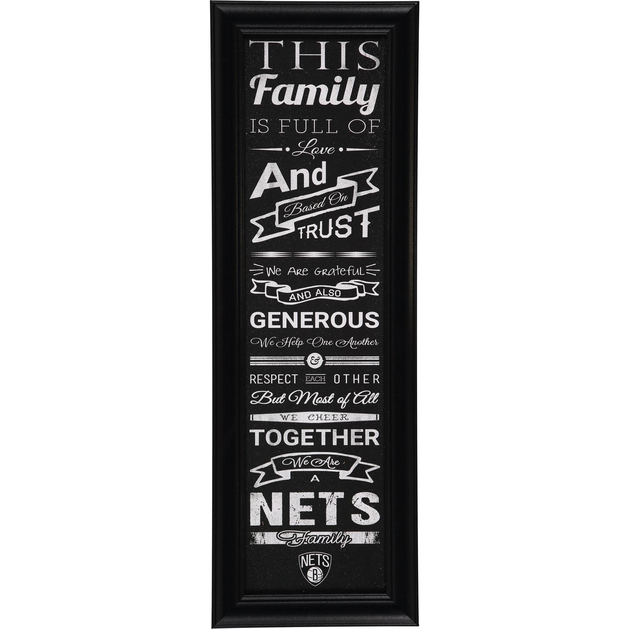 Brooklyn Nets Crackle Family Cheer Framed Art