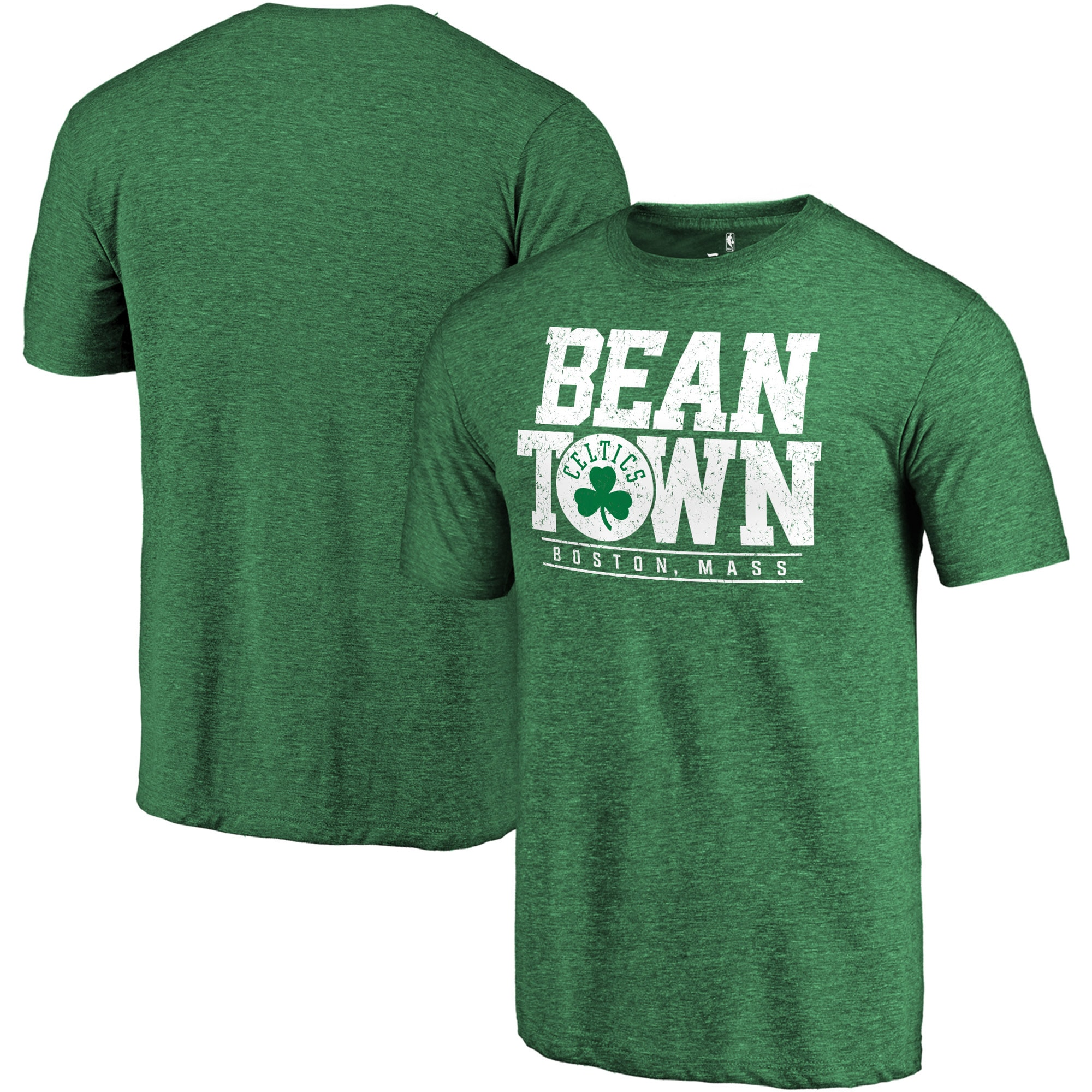 Boston Celtics Fanatics Branded Hometown Collection Bean Town Tri-Blend T-Shirt - Kelly Green