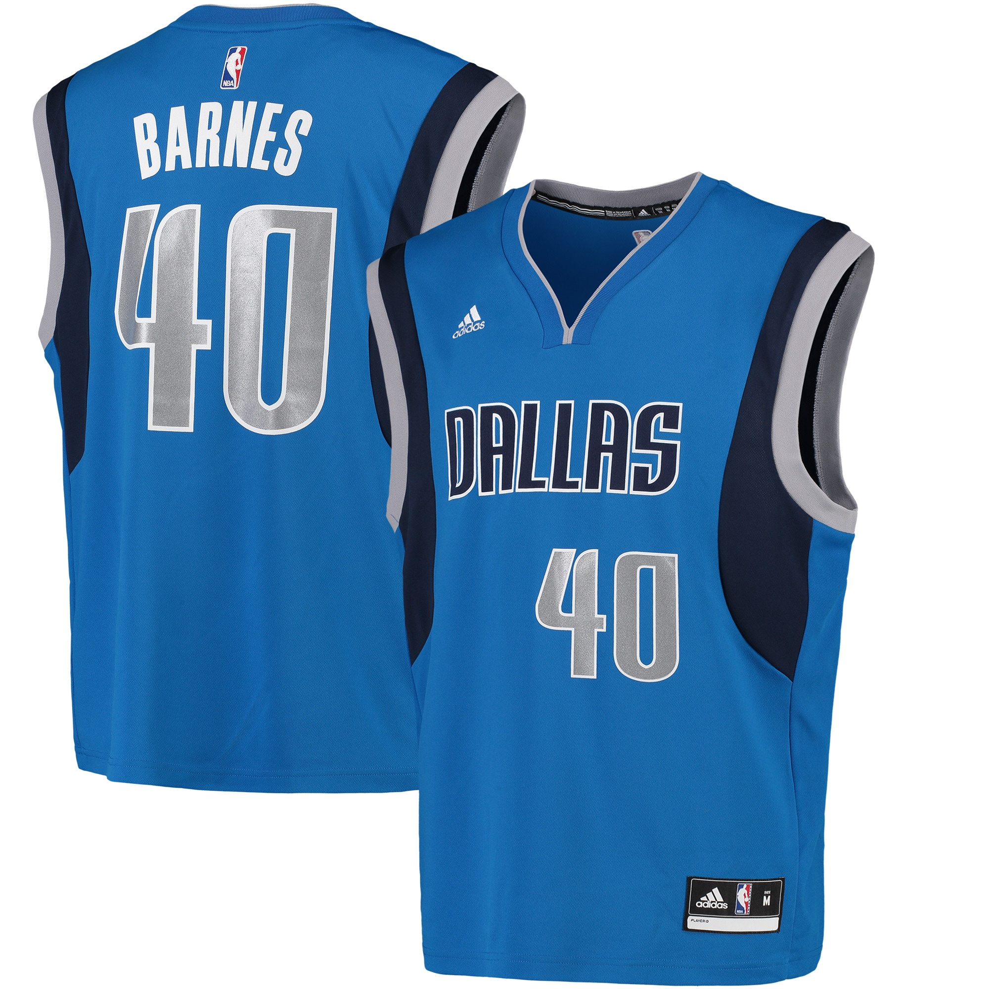 Harrison Barnes Dallas Mavericks adidas Replica Jersey - Blue