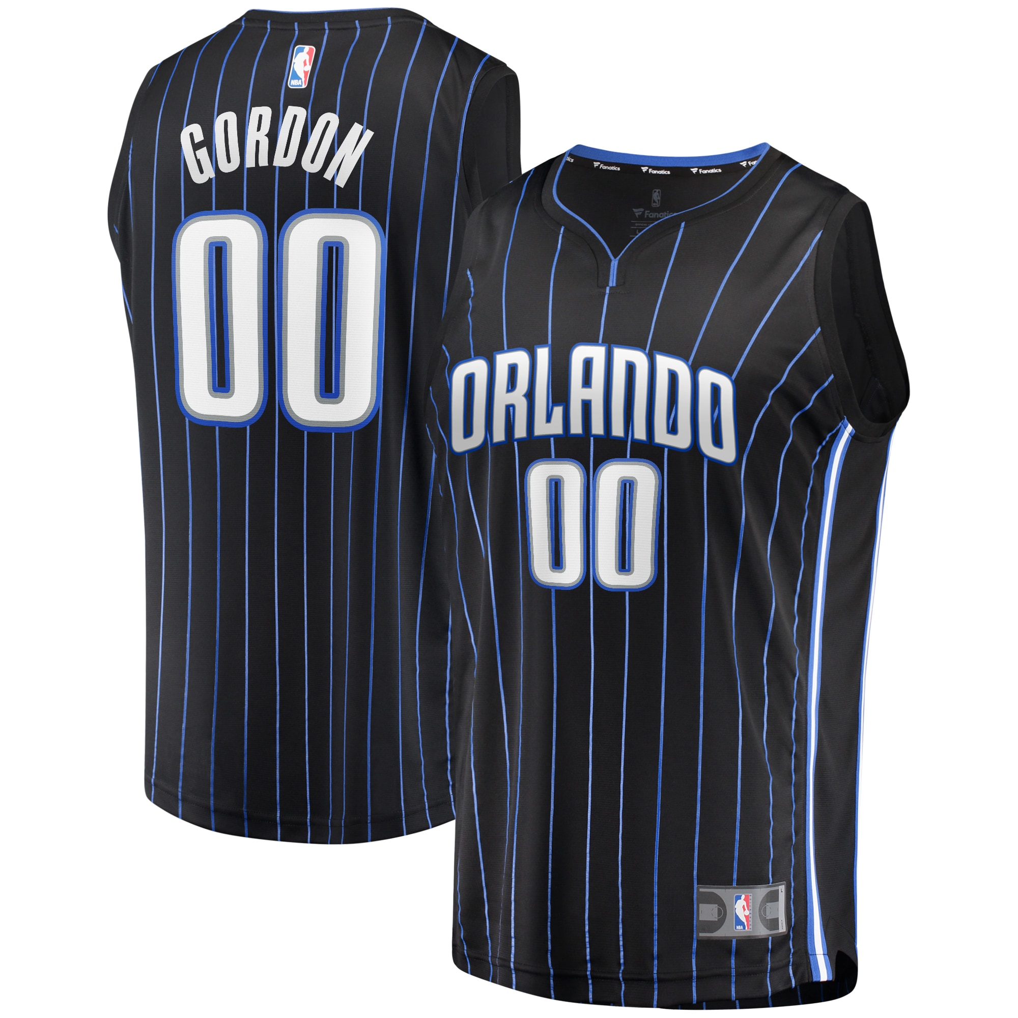 Aaron Gordon Orlando Magic Fanatics Branded Fast Break Replica Player Jersey - Black - Icon Edition