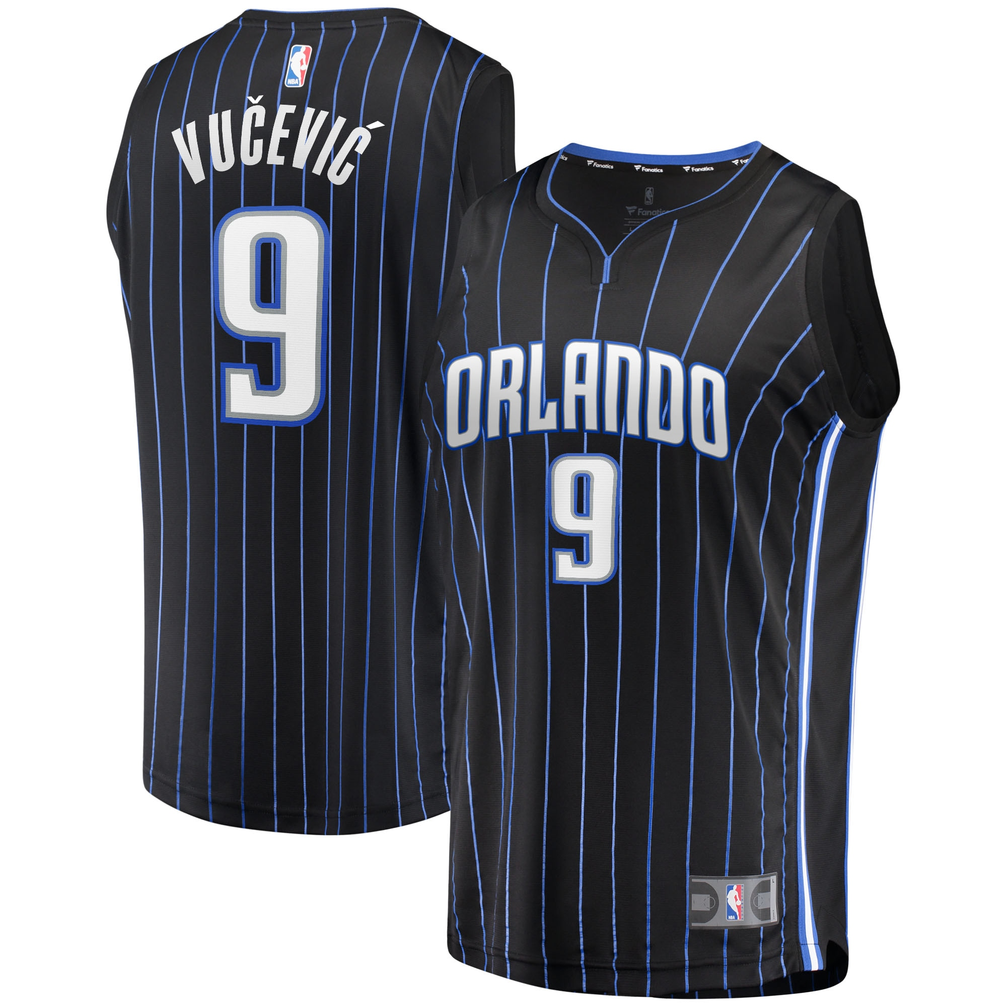 Nikola Vucevic Orlando Magic Fanatics Branded Fast Break Replica Player Jersey - Black - Icon Edition