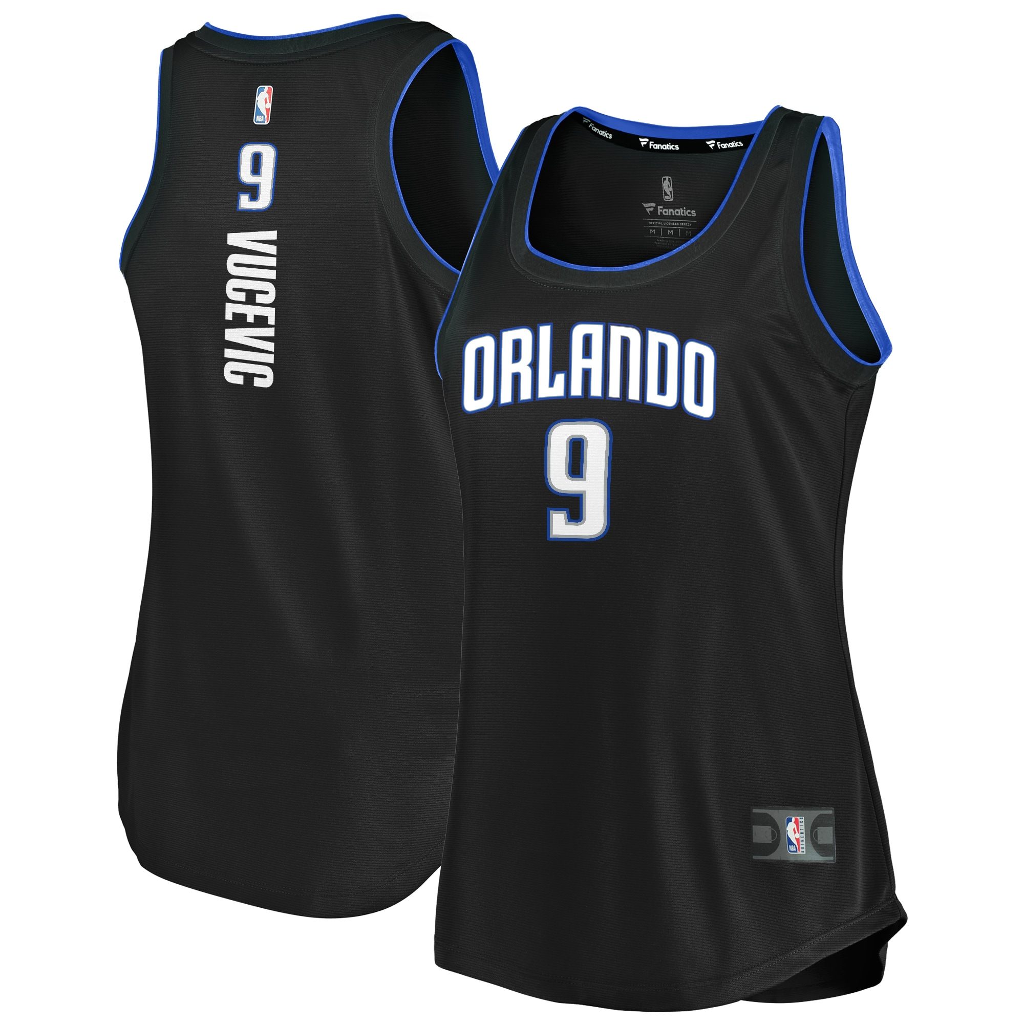 Nikola Vucevic Orlando Magic Fanatics Branded Women's 2019/20 Fast Break Team Tank Jersey - Icon Edition - Black
