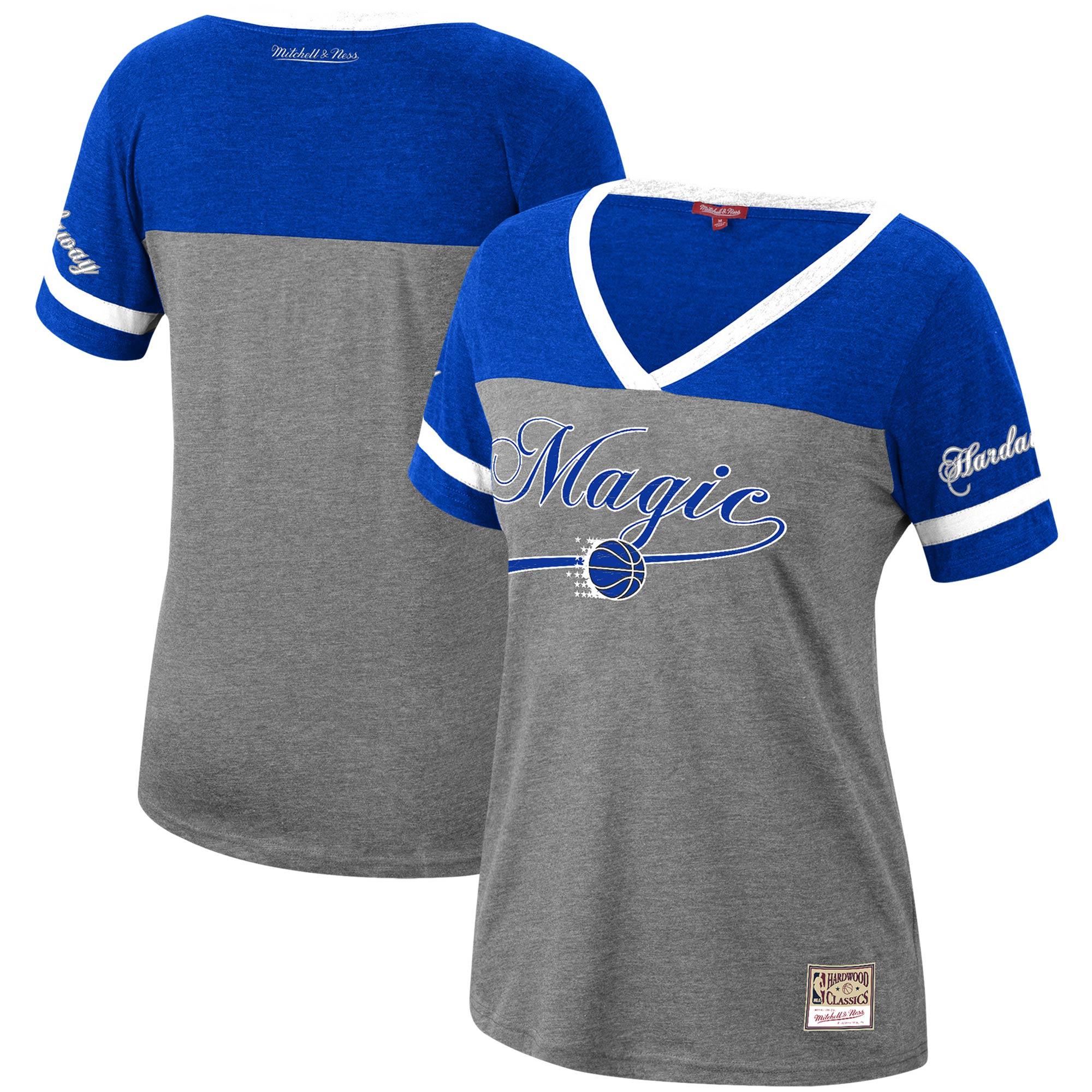 Penny Hardaway Orlando Magic Mitchell & Ness Women's Heathered Charcoal Team Captain V-Neck T-Shirt
