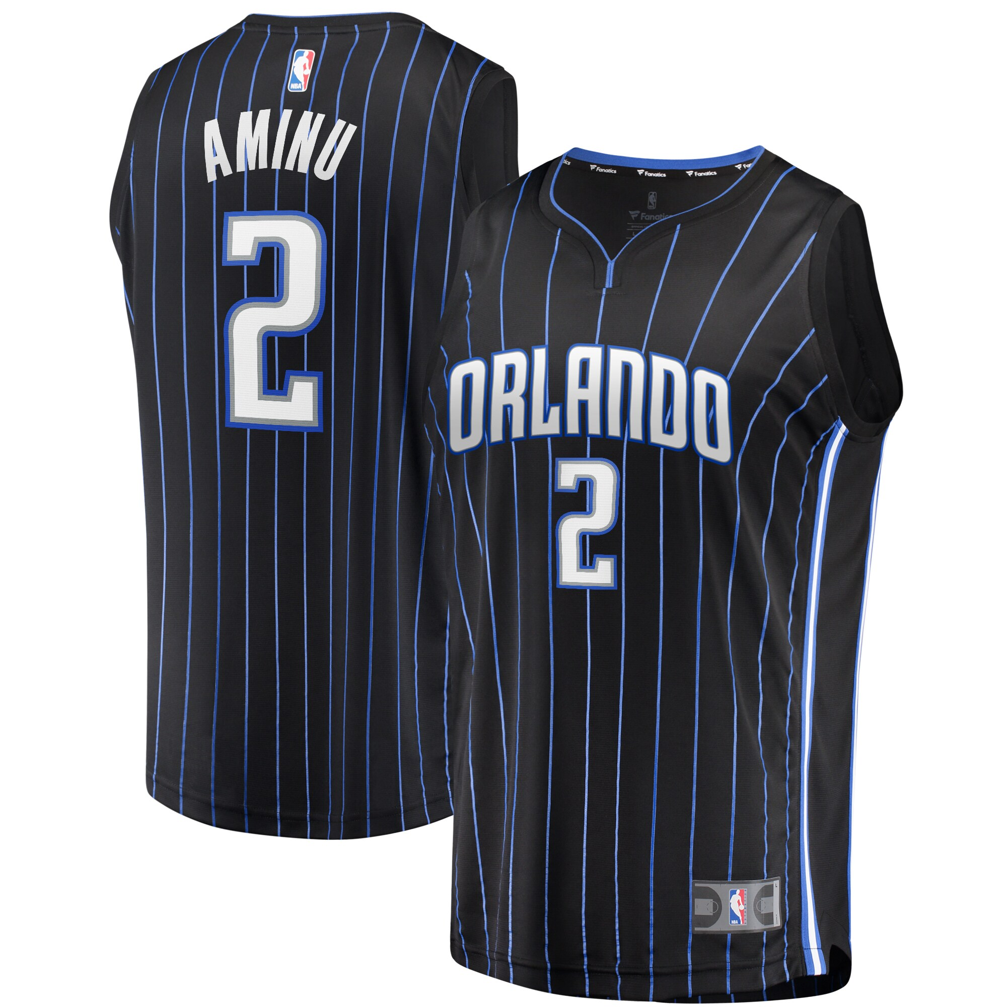 Al-Farouq Aminu Orlando Magic Fanatics Branded Youth 2019 Fast Break Replica Player Jersey Black - Icon Edition