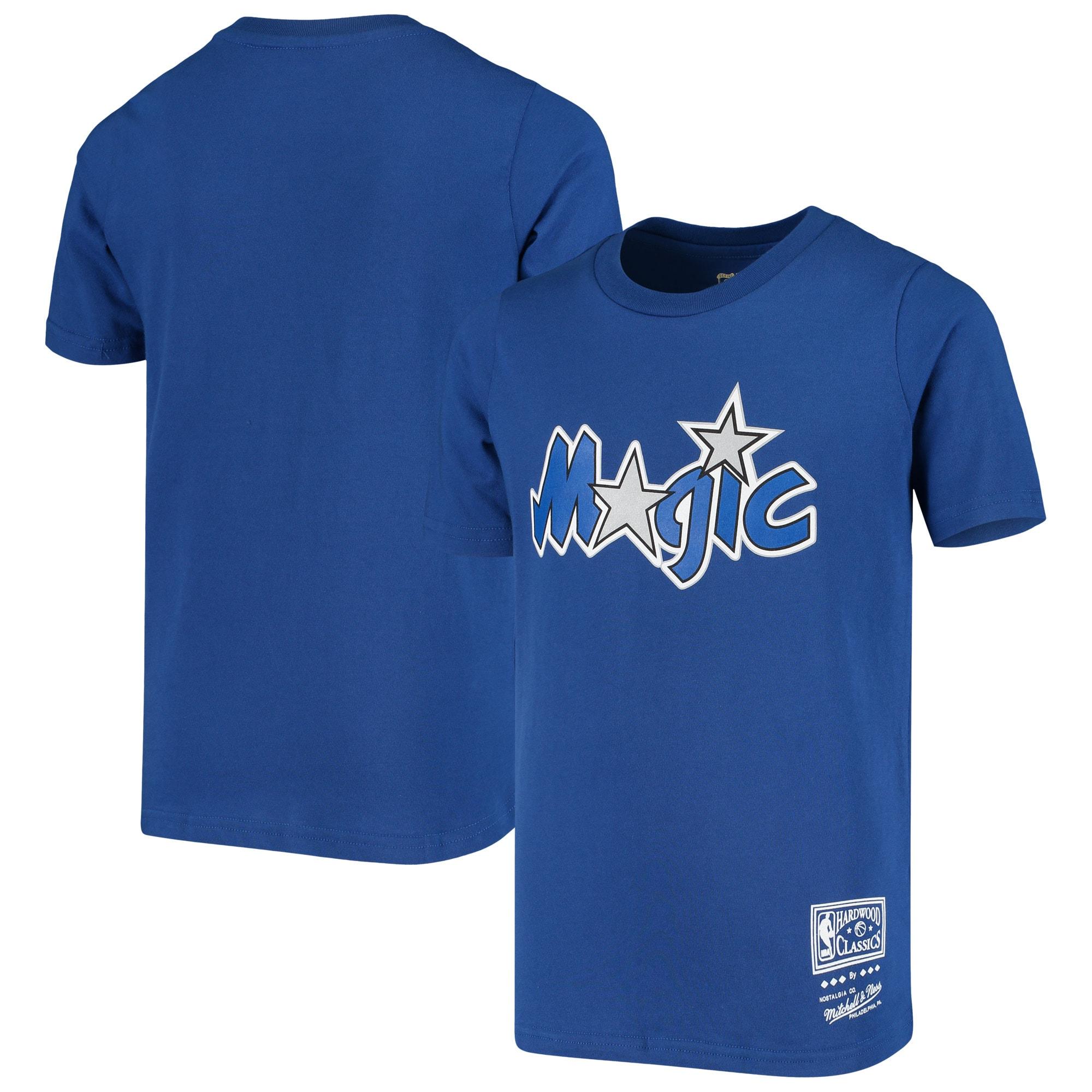 Orlando Magic Mitchell & Ness Youth Hardwood Classics T-Shirt - Blue