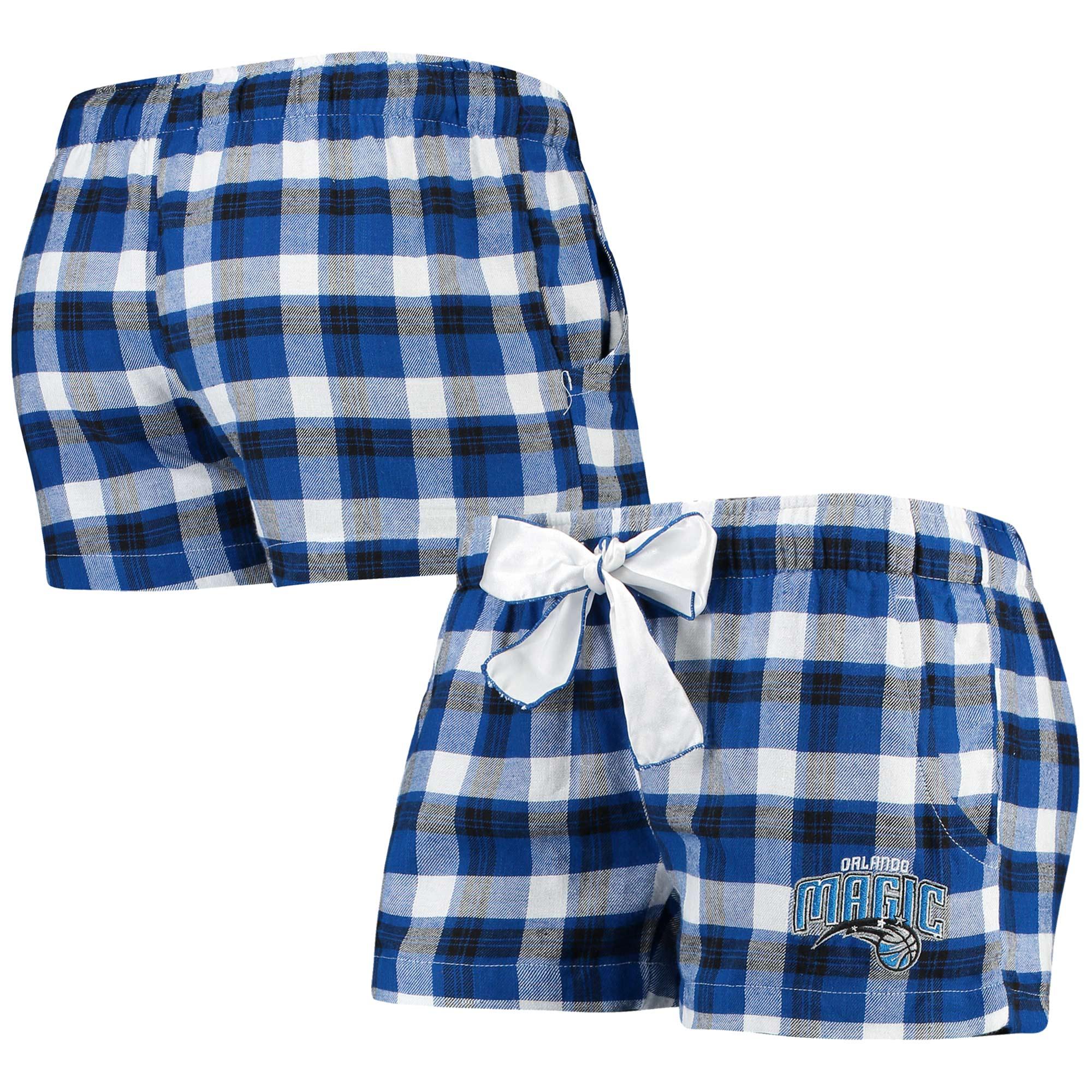 Orlando Magic Concepts Sport Women's Piedmont Flannel Sleep Shorts - Royal/Black