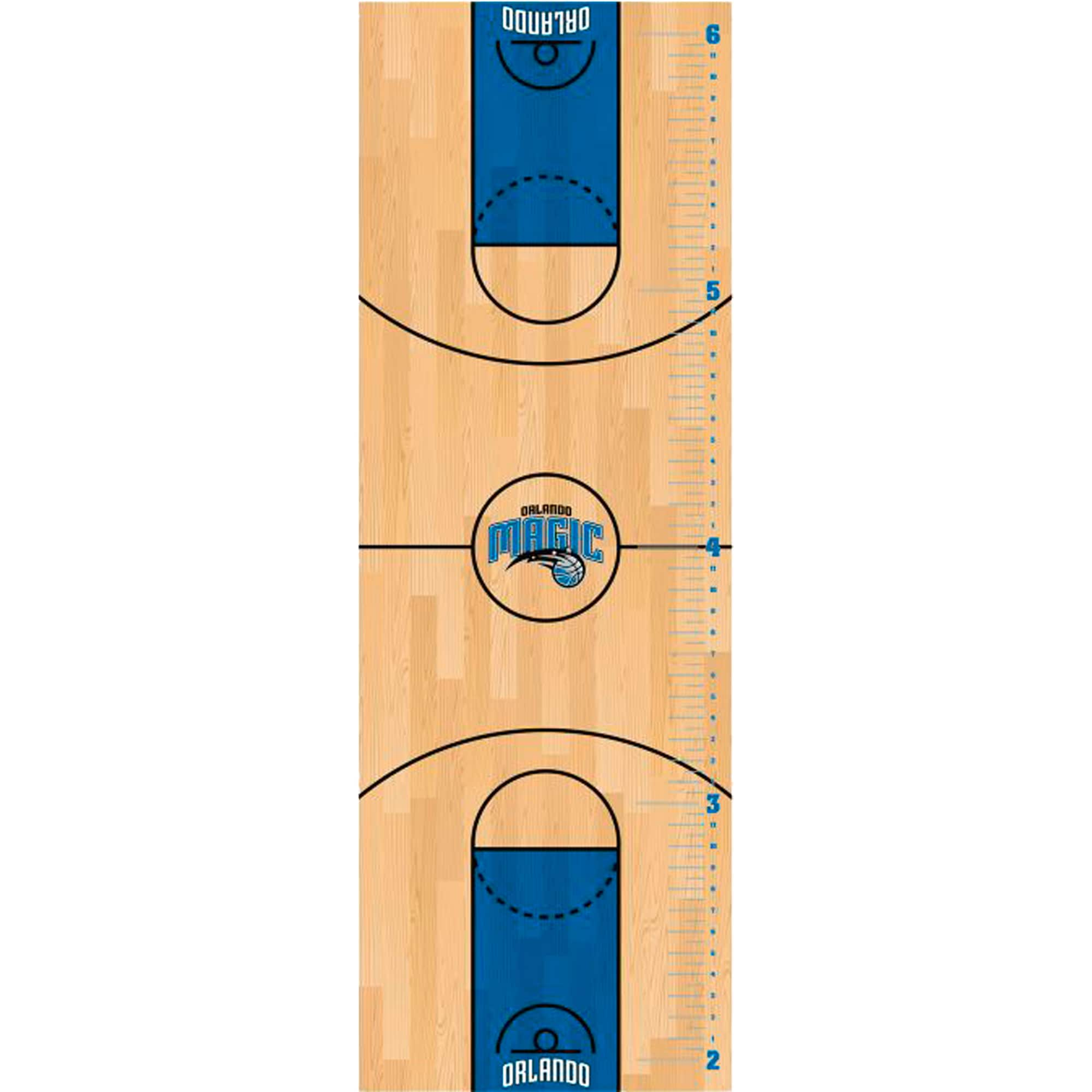 Orlando Magic Fathead Basketball Court Large Removable Growth Chart