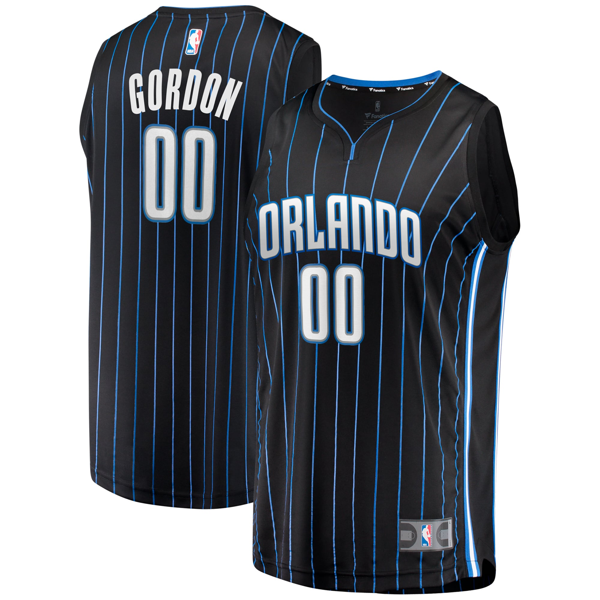 Aaron Gordon Orlando Magic Fanatics Branded Youth 2019 Fast Break Jersey Black - Icon Edition