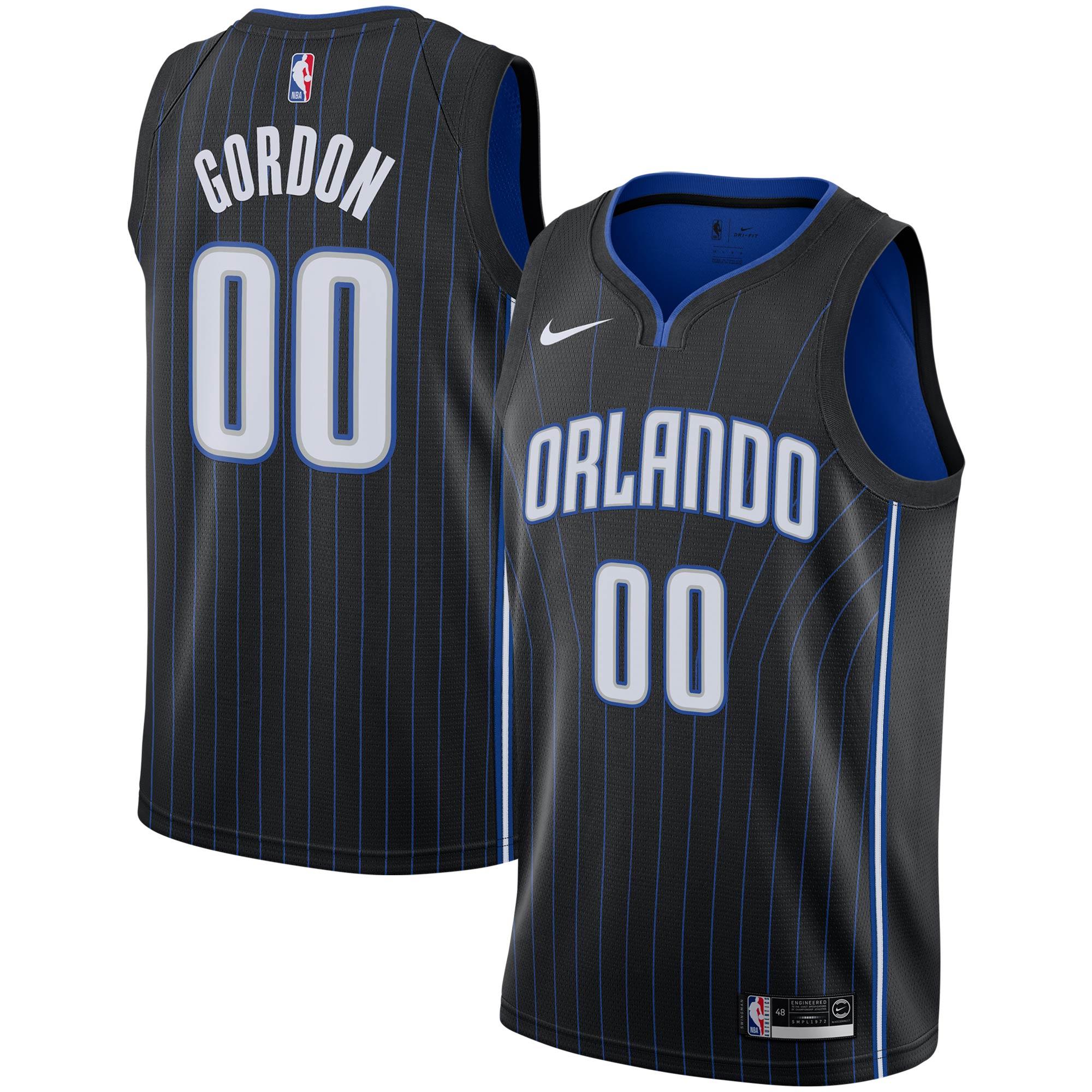Aaron Gordon Orlando Magic Nike 2019/2020 Swingman Jersey - Icon Edition - Black
