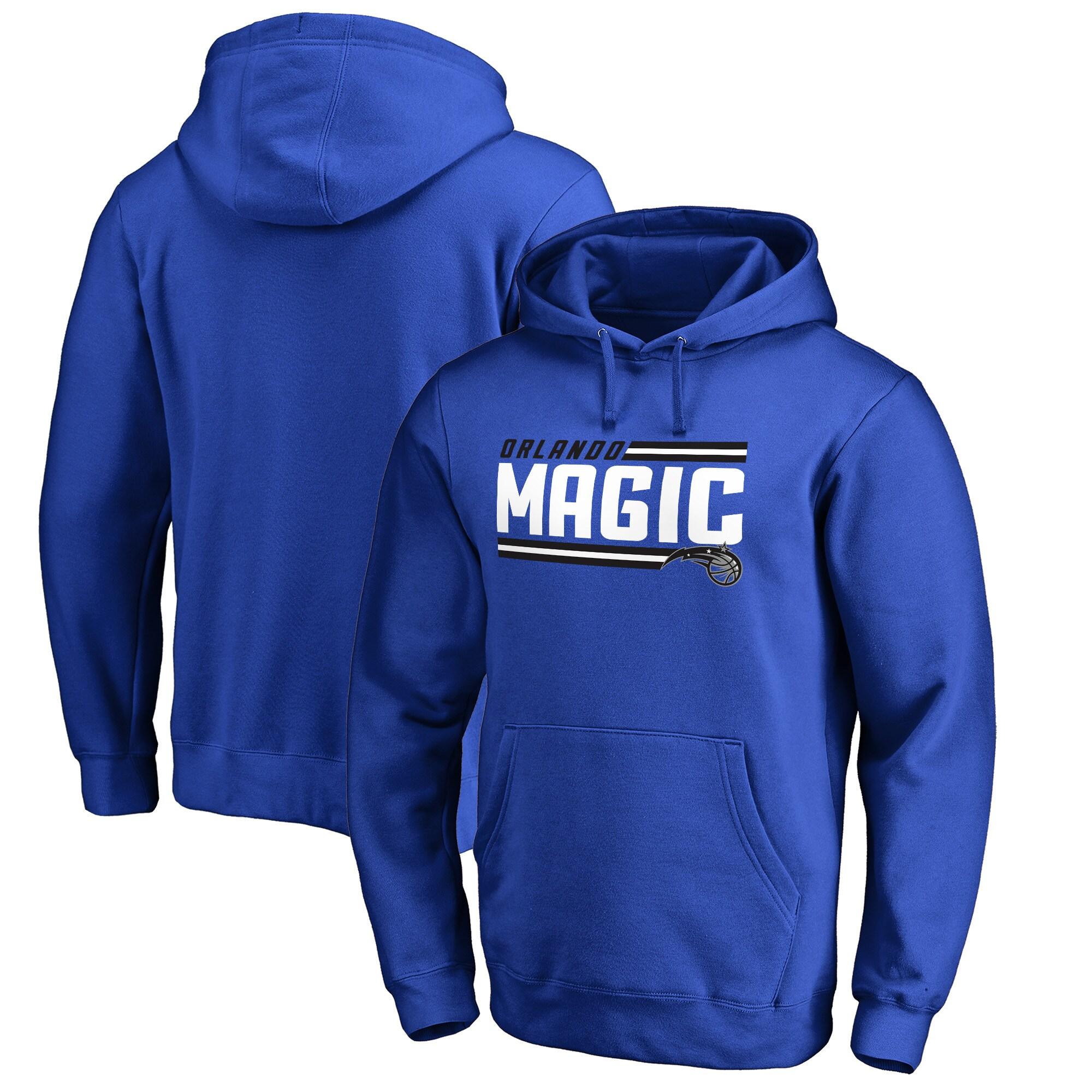 Orlando Magic Fanatics Branded Onside Stripe Big & Tall Pullover Hoodie - Royal
