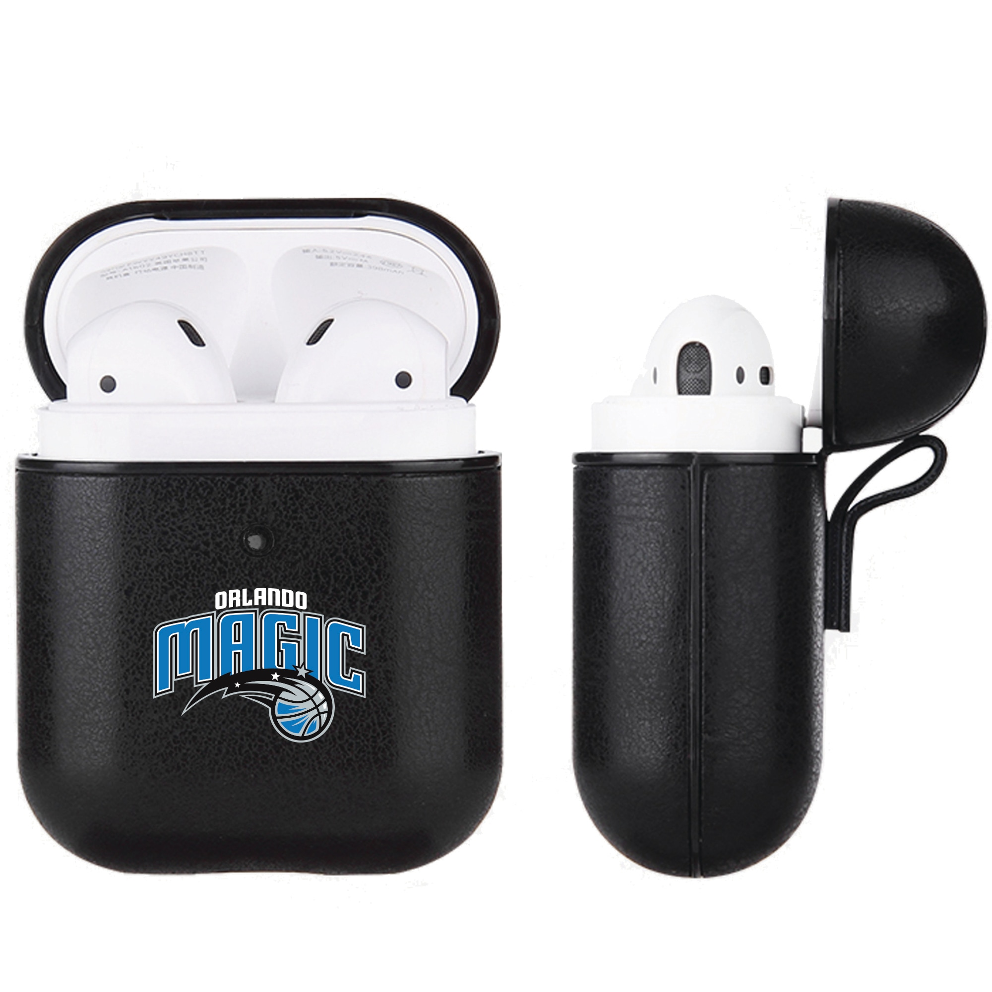 Orlando Magic Air Pods Black Leatherette Case