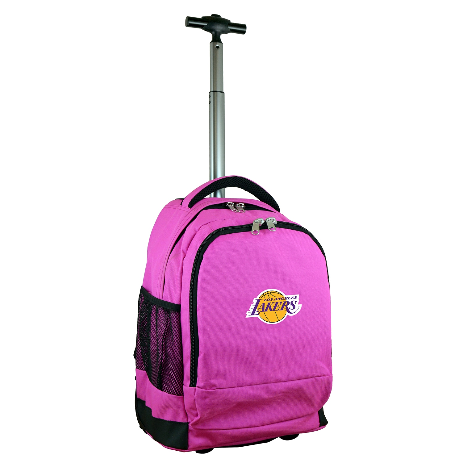 Los Angeles Lakers 19'' Premium Wheeled Backpack - Pink