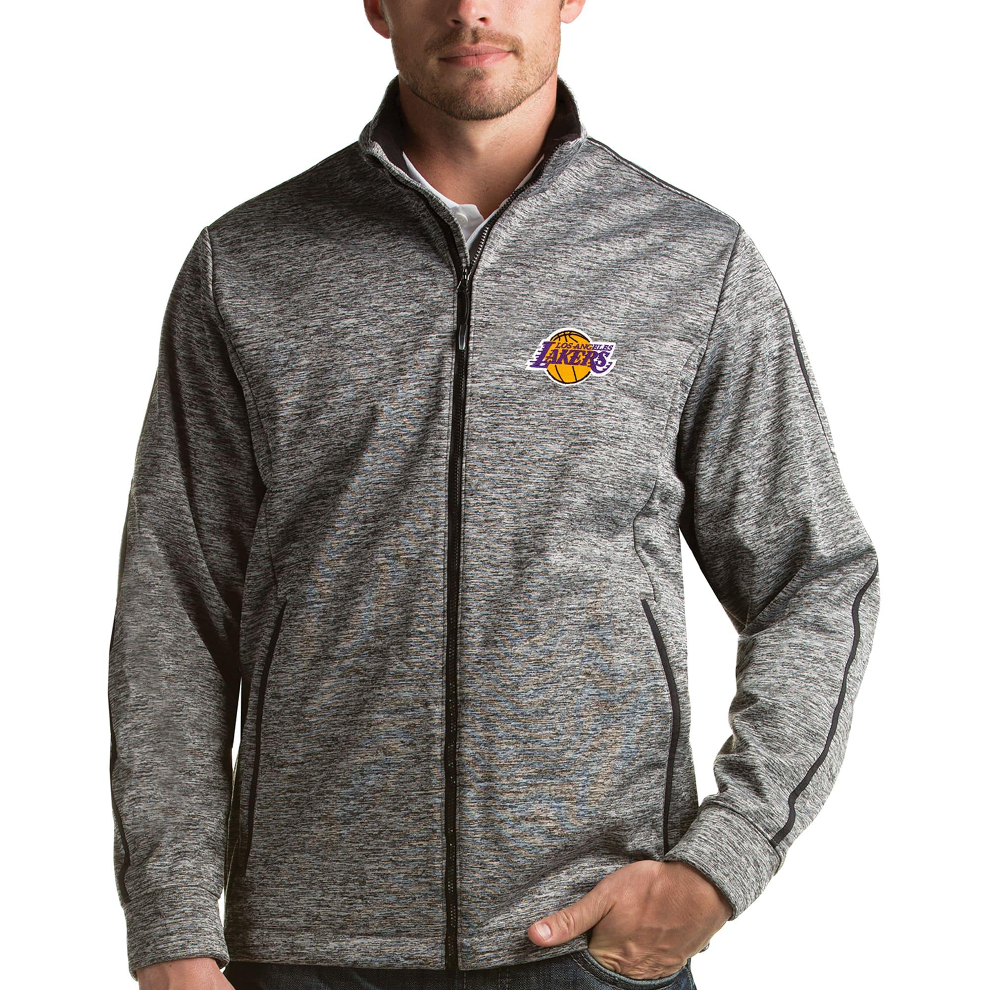 Los Angeles Lakers Antigua Golf Full-Zip Jacket - Heather Gray