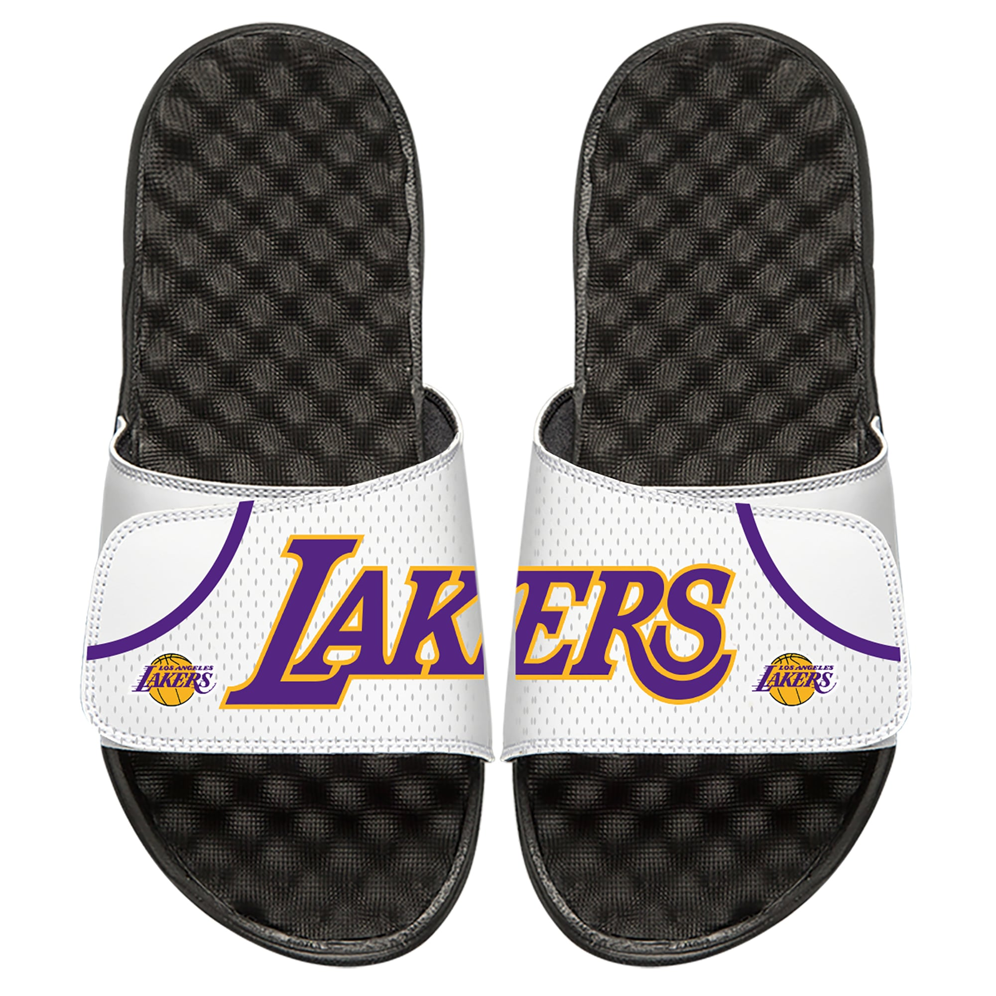 Los Angeles Lakers ISlide Youth Away Jersey Slide Sandals - White