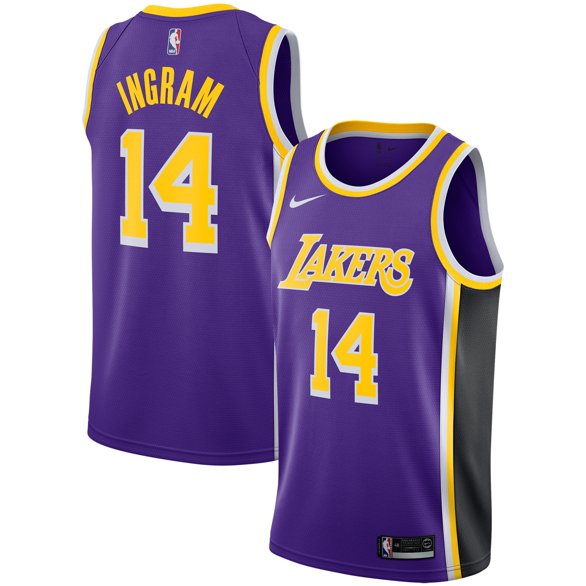 Brandon Ingram Los Angeles Lakers Nike Replica Swingman Jersey - Statement Edition - Purple