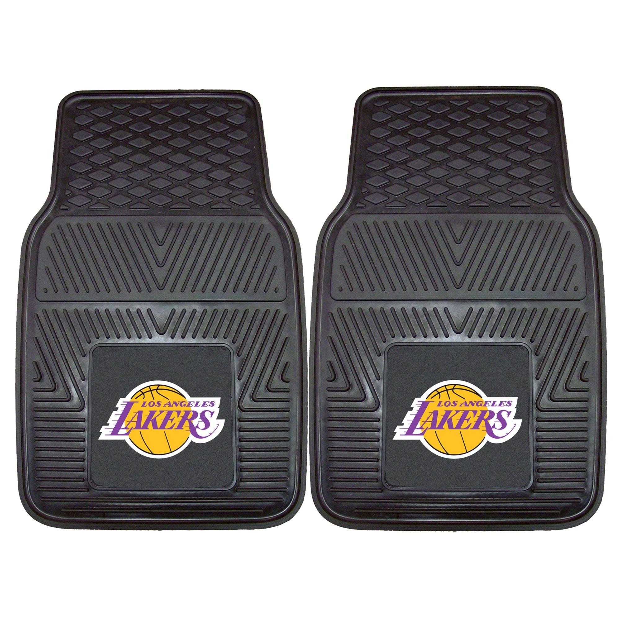 "Los Angeles Lakers 27"" x 18"" 2-Pack Vinyl Car Mat Set"