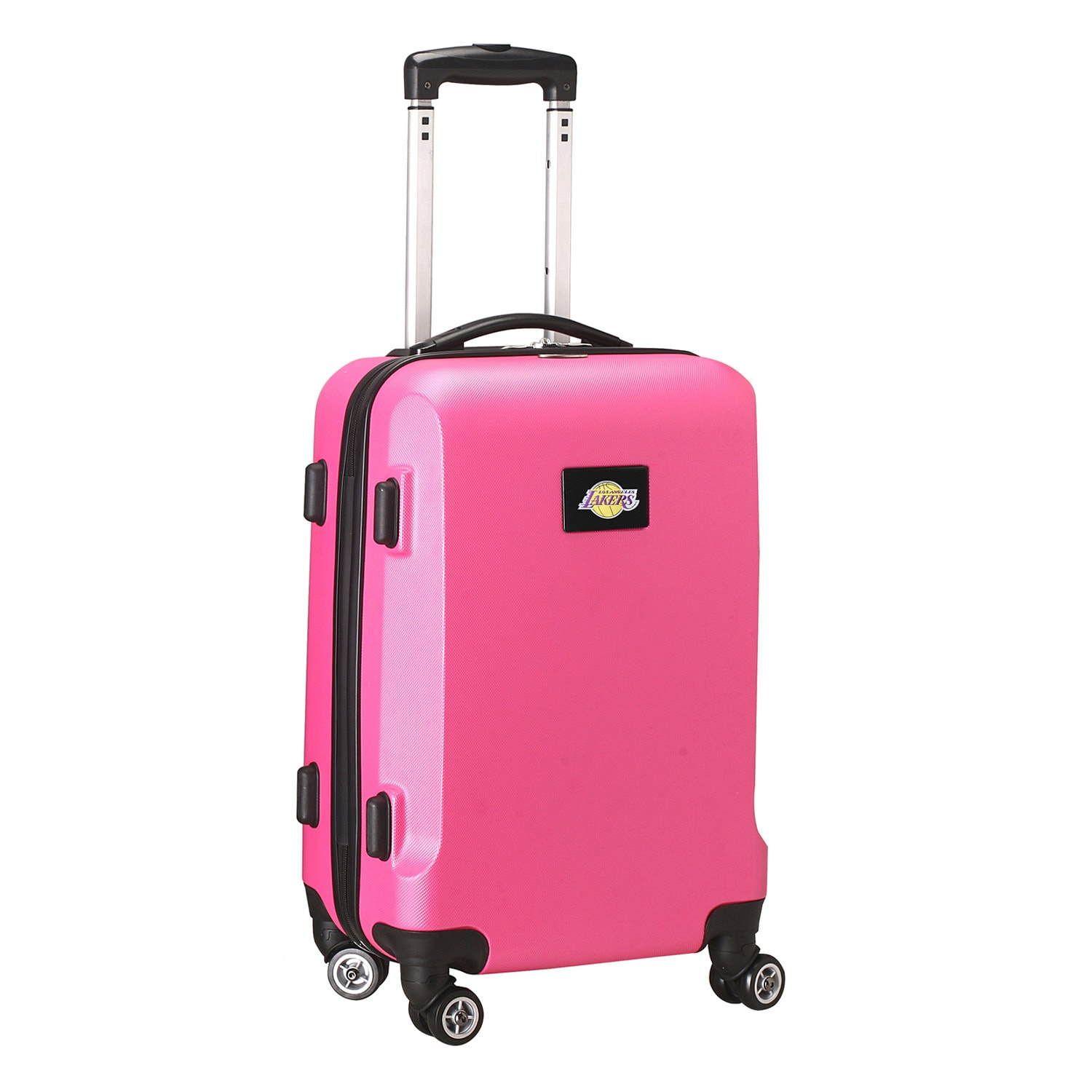 "Los Angeles Lakers 20"" 8-Wheel Hardcase Spinner Carry-On - Pink"